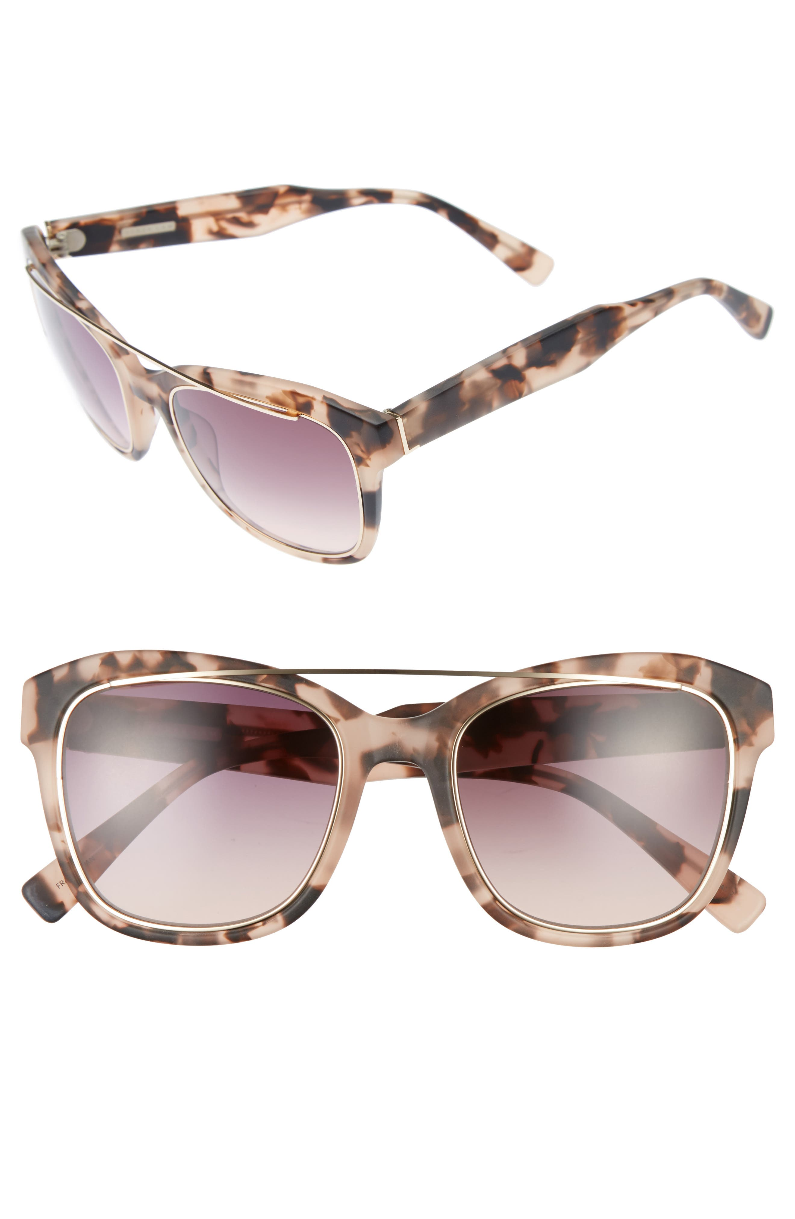 Derek Lam Hudson 52mm Gradient Sunglasses