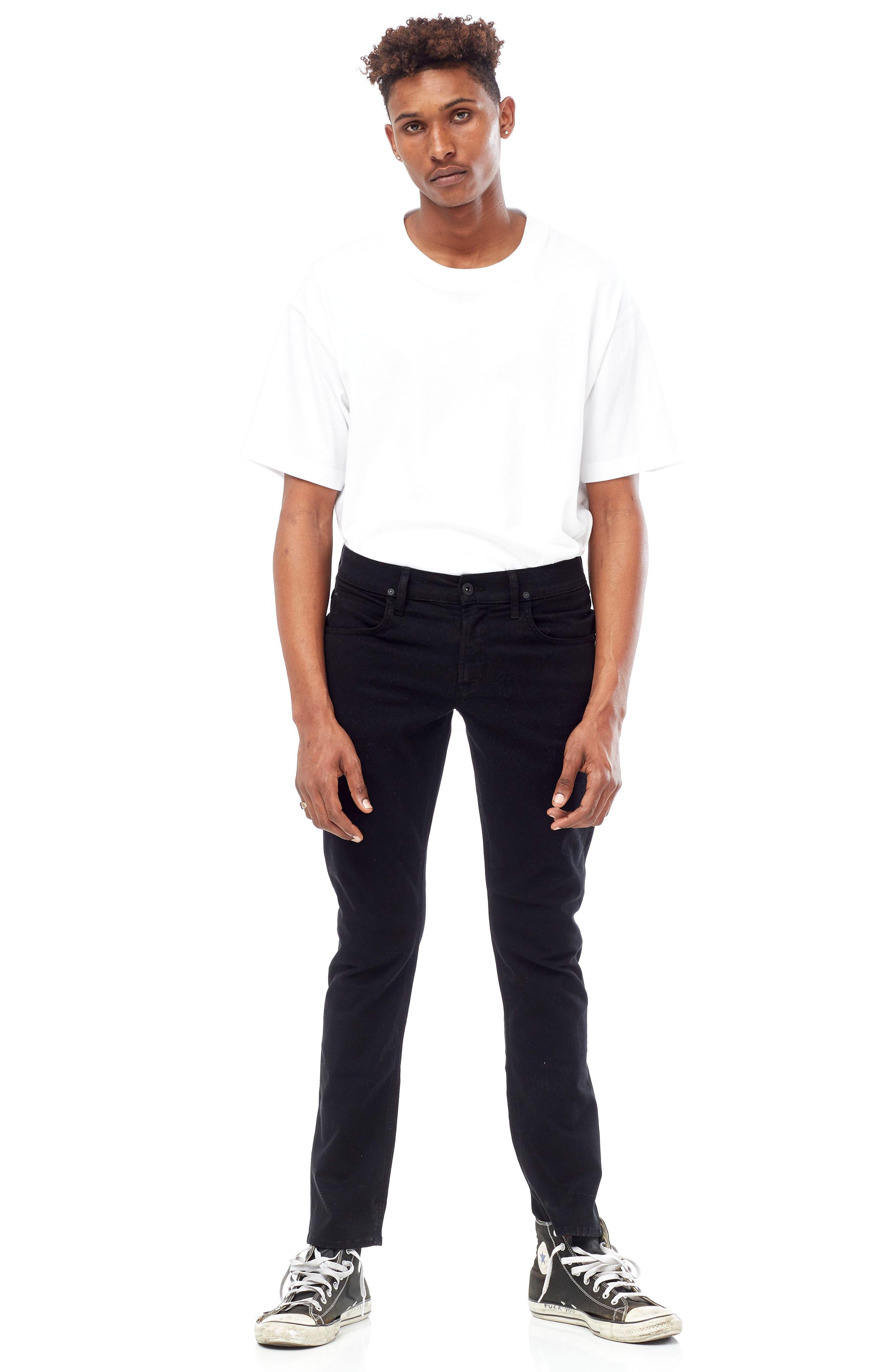 Blake Slim Fit Jeans,                             Alternate thumbnail 6, color,                             Blackened