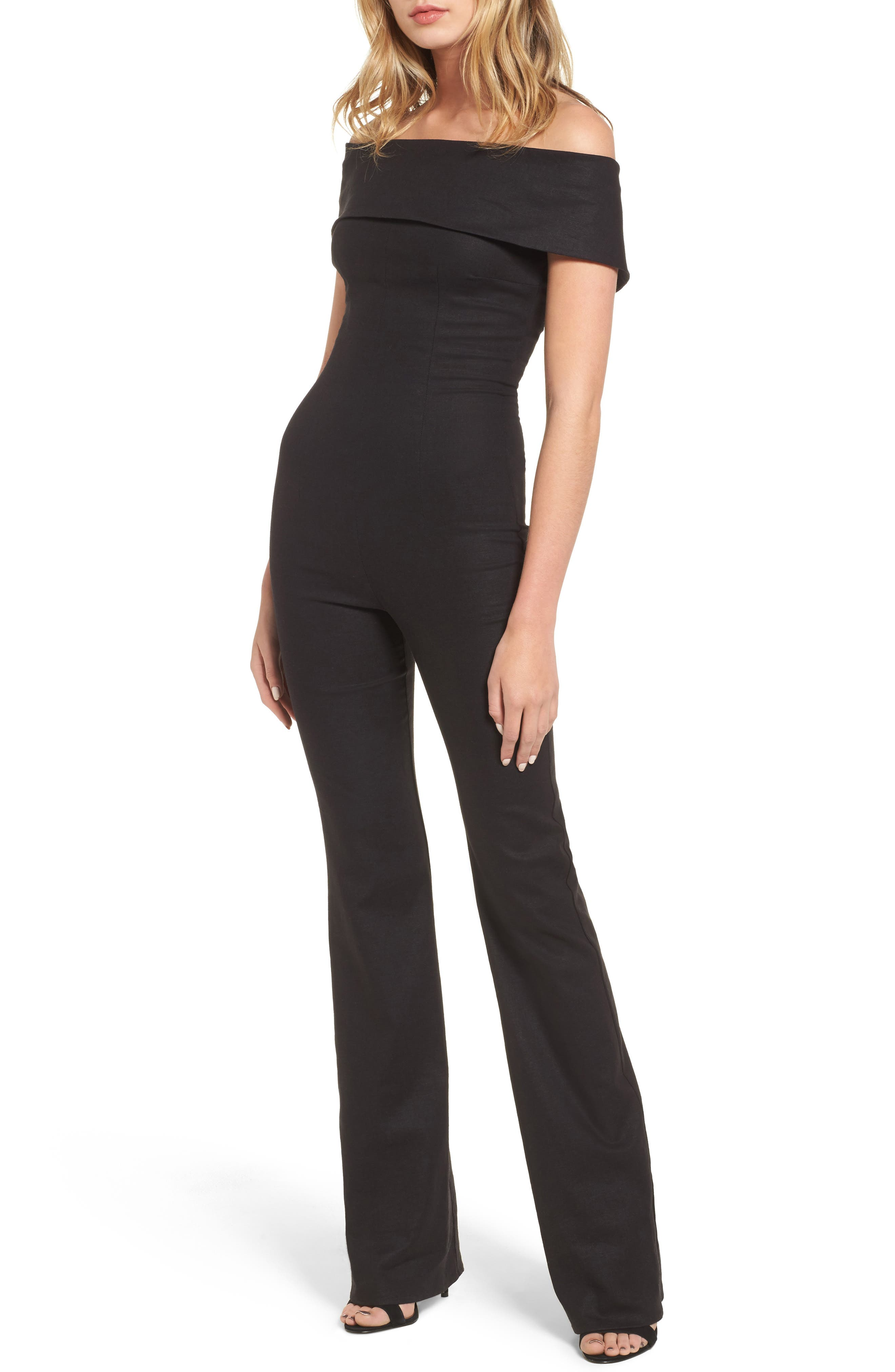 Main Image - Stone Cold Fox Sinatra Off the Shoulder Jumpsuit