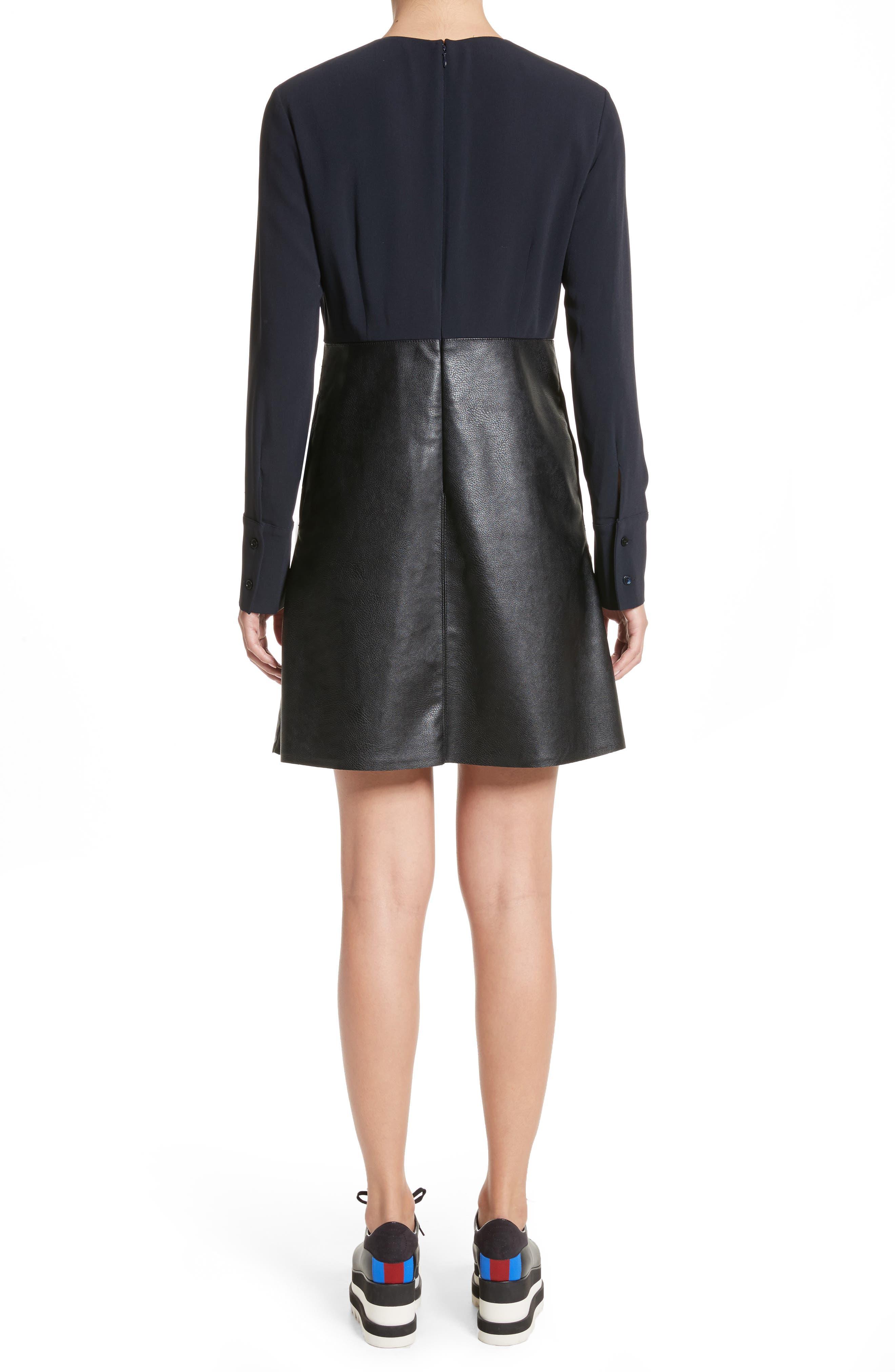 Alternate Image 2  - Stella McCartney Alter Leather & Stretch Cady Dress