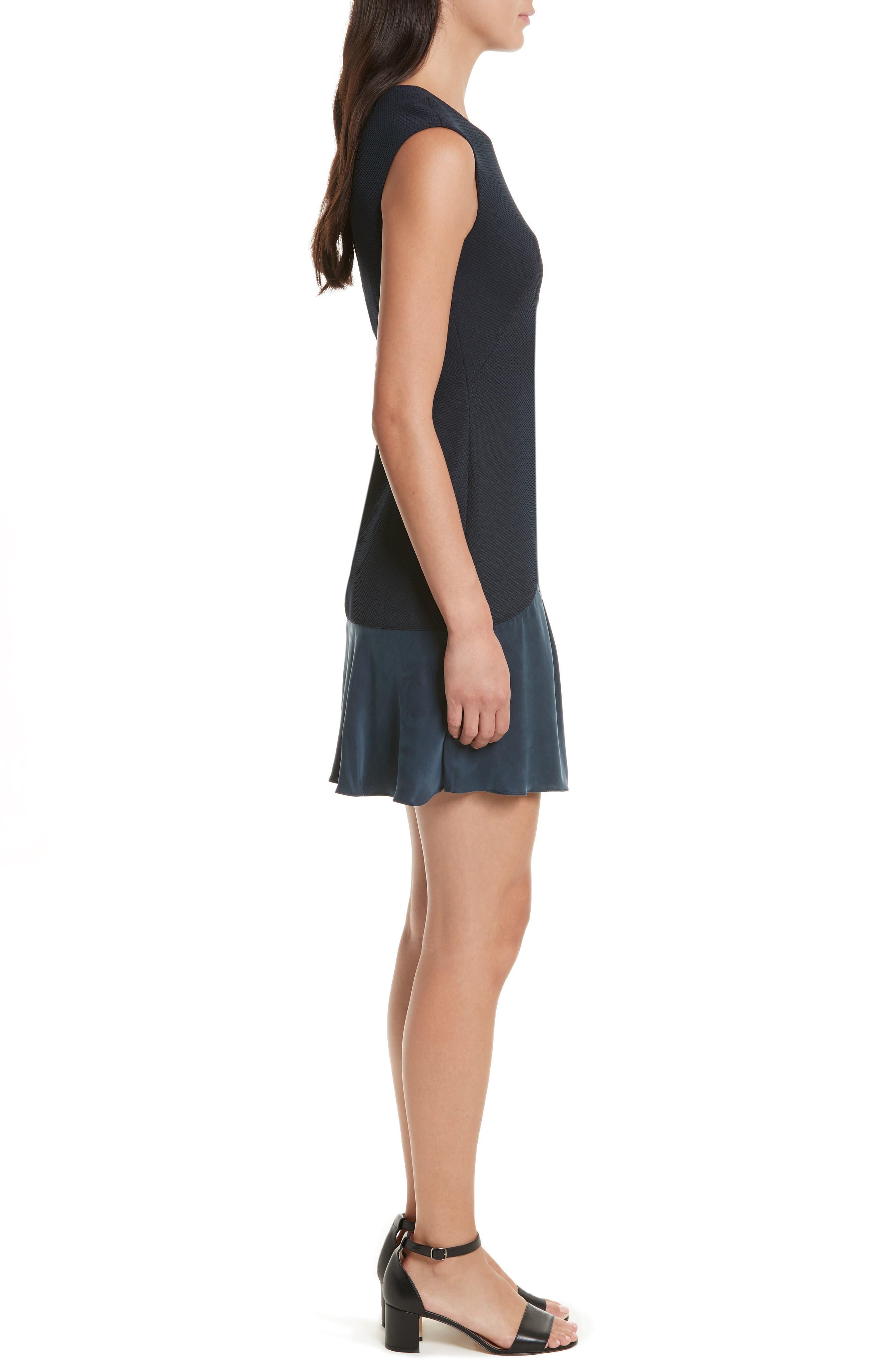 Stacy Drop Waist Dress,                             Alternate thumbnail 3, color,                             Navy
