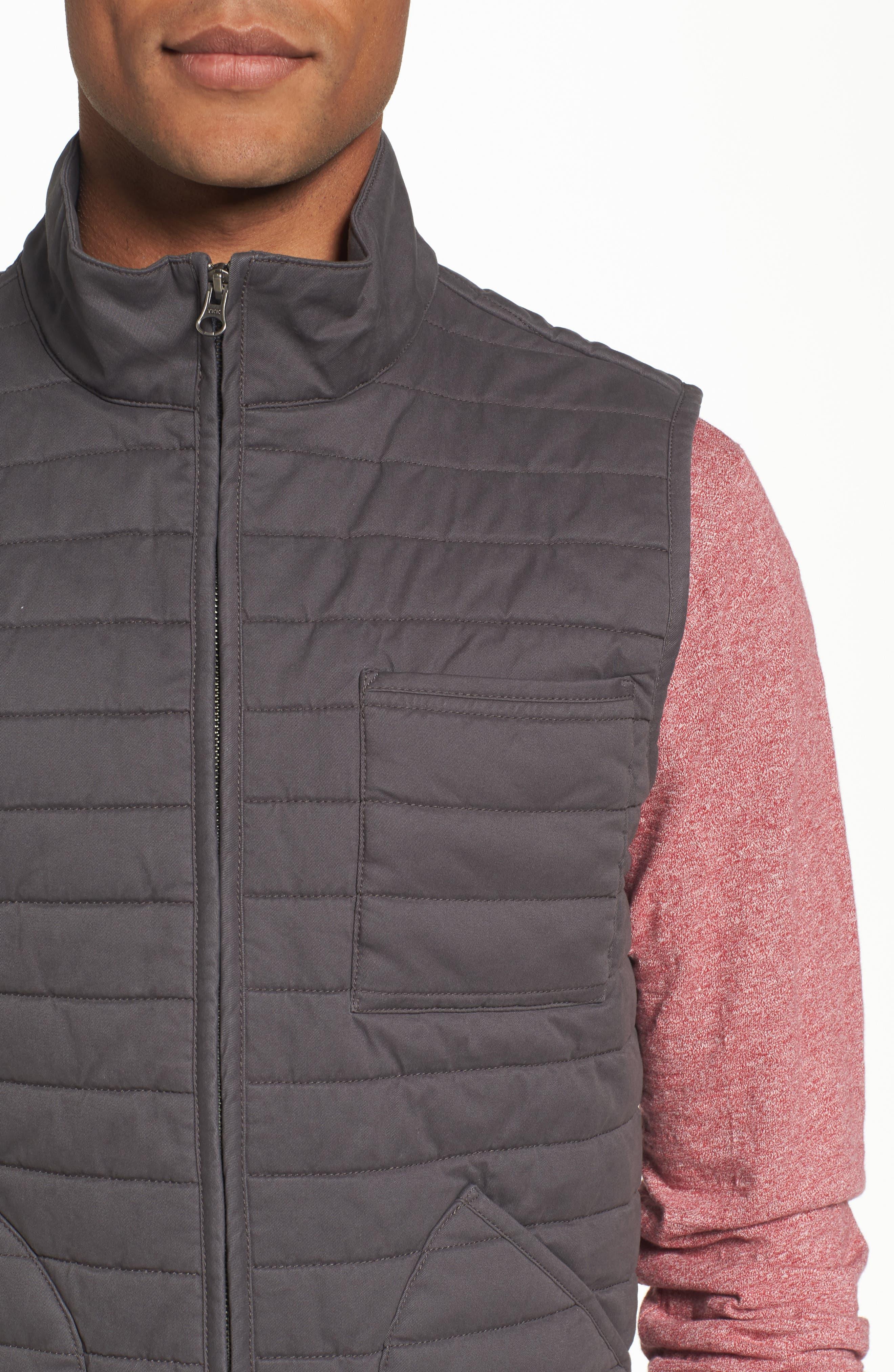 Alternate Image 4  - Nordstrom Men's Shop Quilted Twill Vest (Regular & Tall)