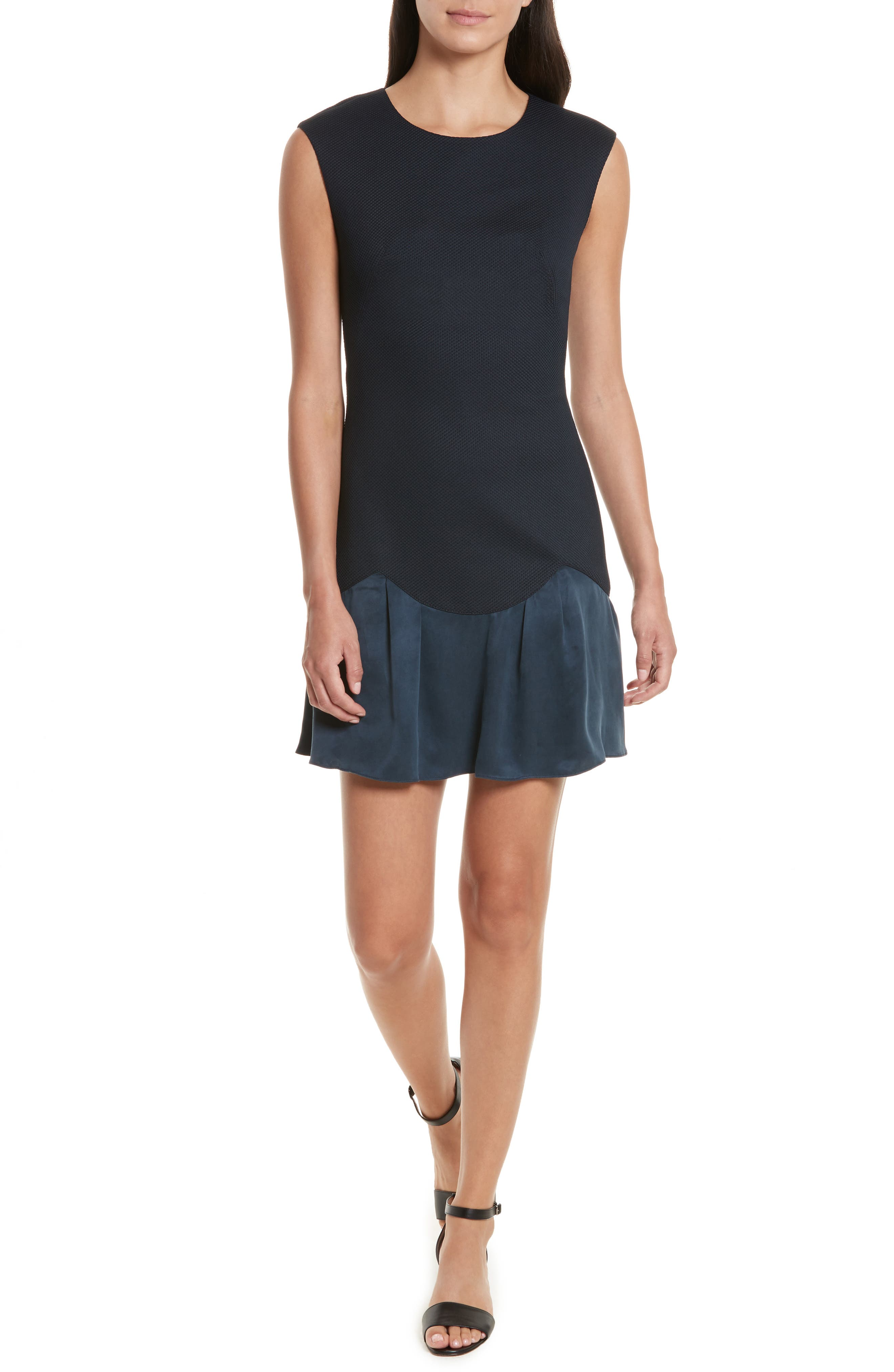 Stacy Drop Waist Dress,                             Main thumbnail 1, color,                             Navy