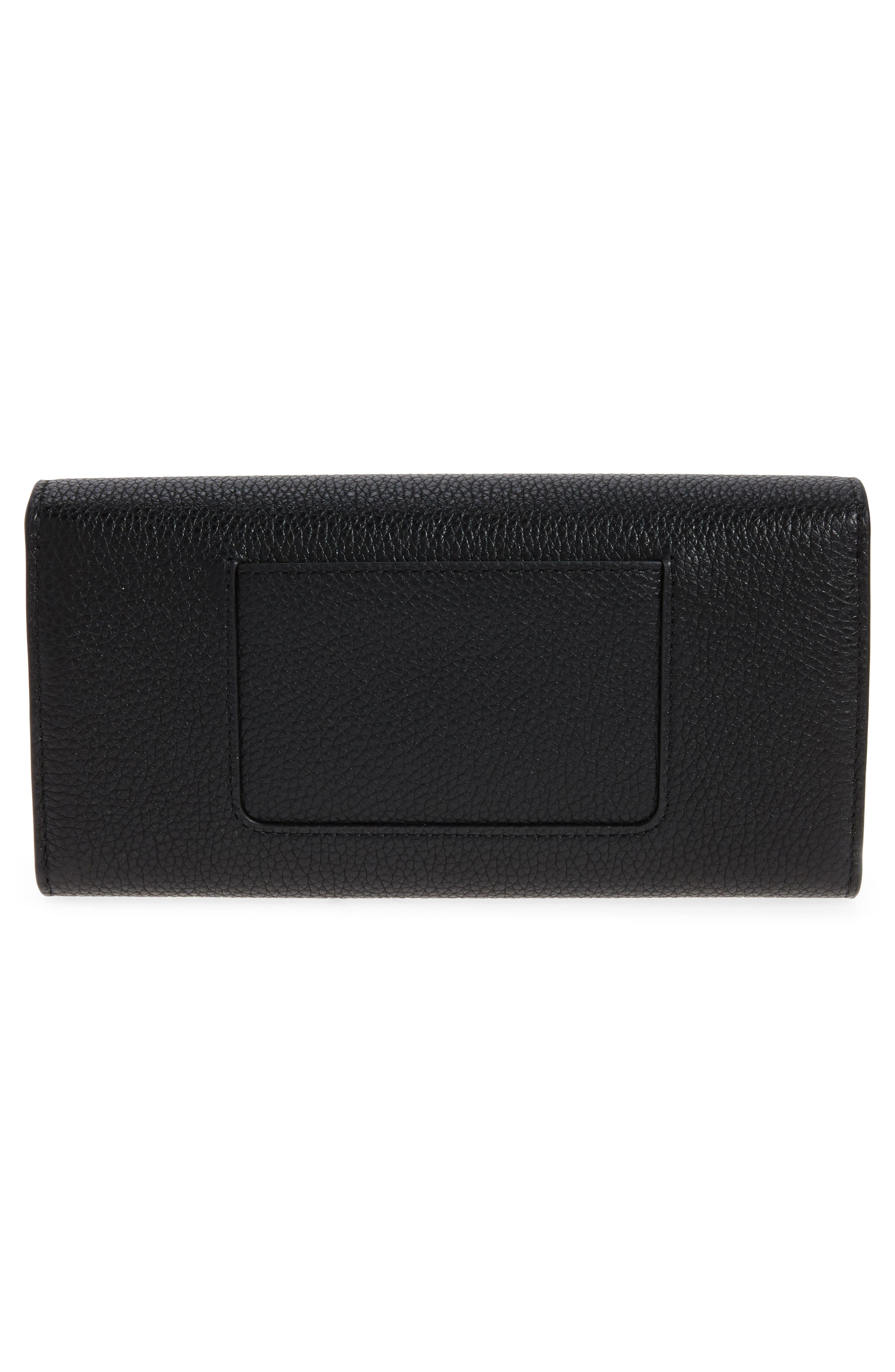 Darley Continental Leather Wallet,                             Alternate thumbnail 4, color,                             Black