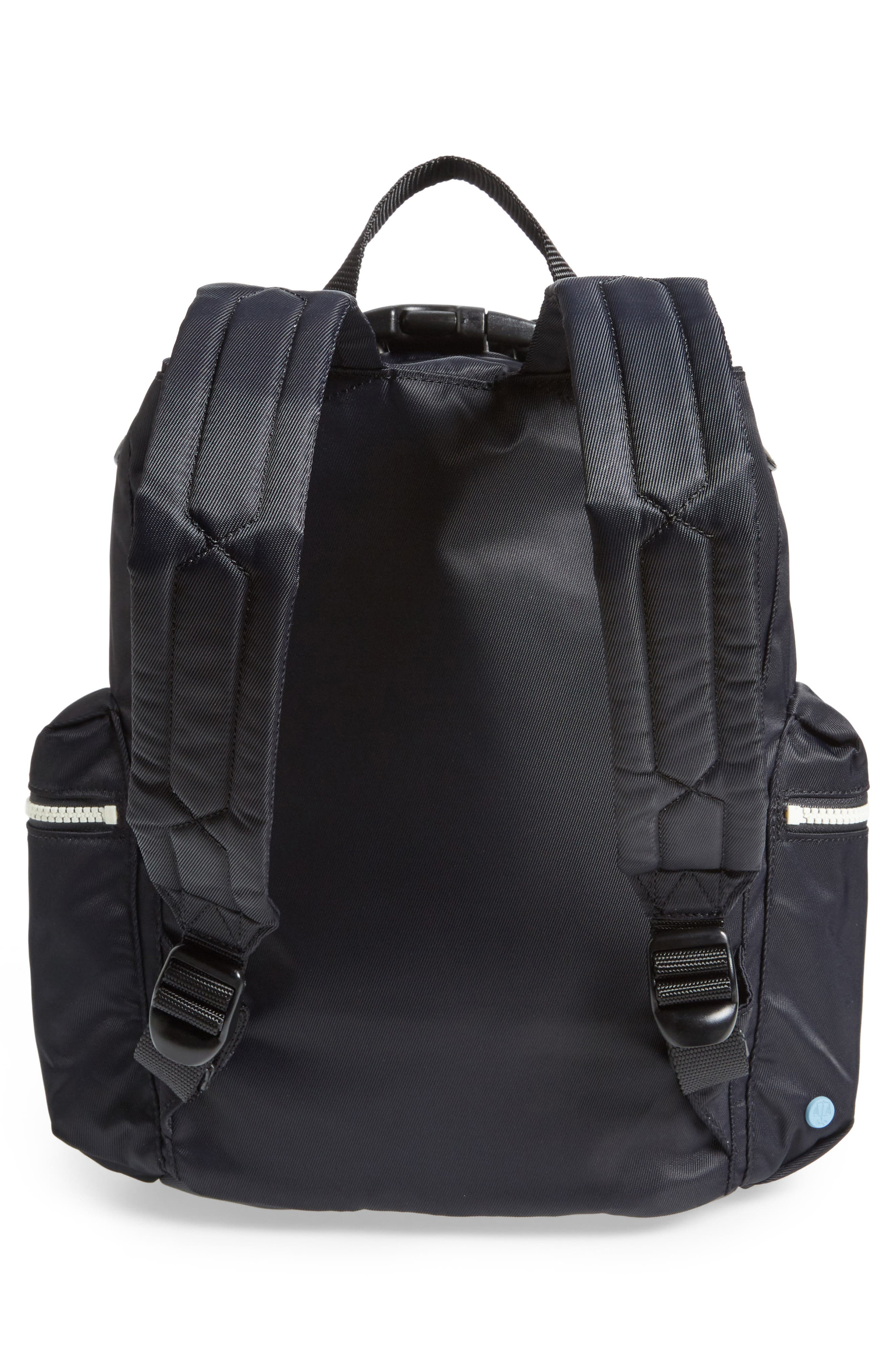 Original Mini Top Clip Nylon Backpack,                             Alternate thumbnail 3, color,                             Black