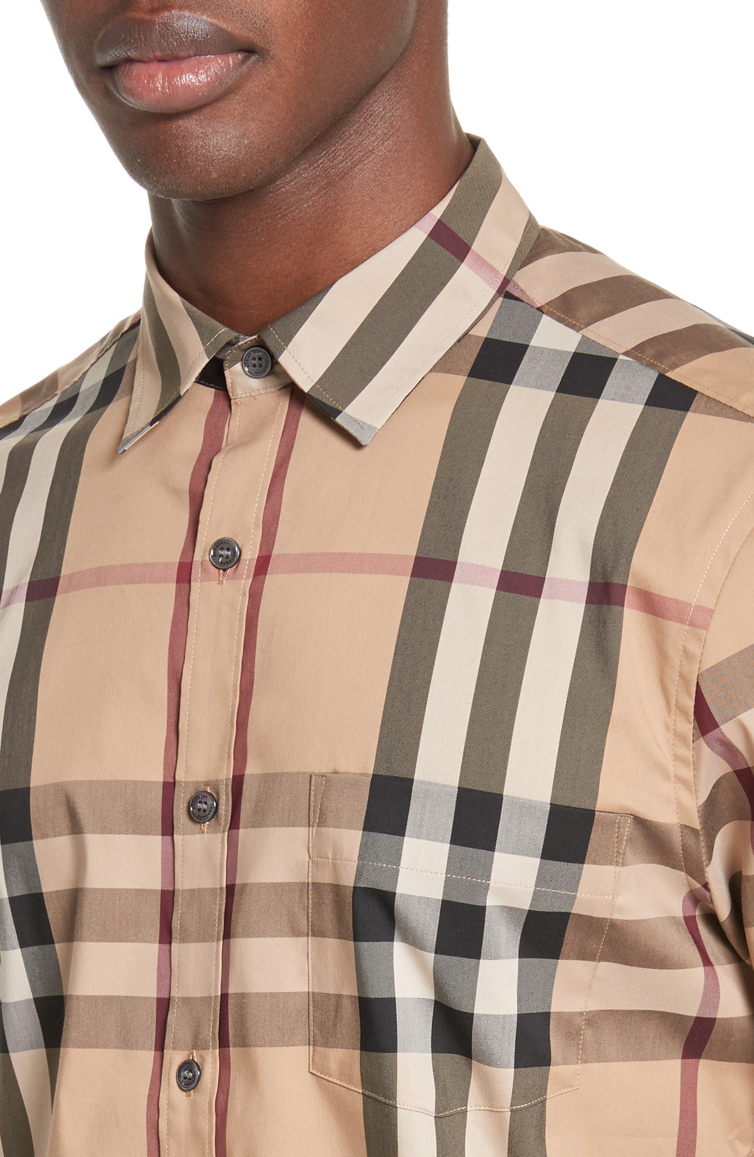 Alternate Image 4  - Burberry Brit 'Nelson' Trim Fit Short Sleeve Sport Shirt