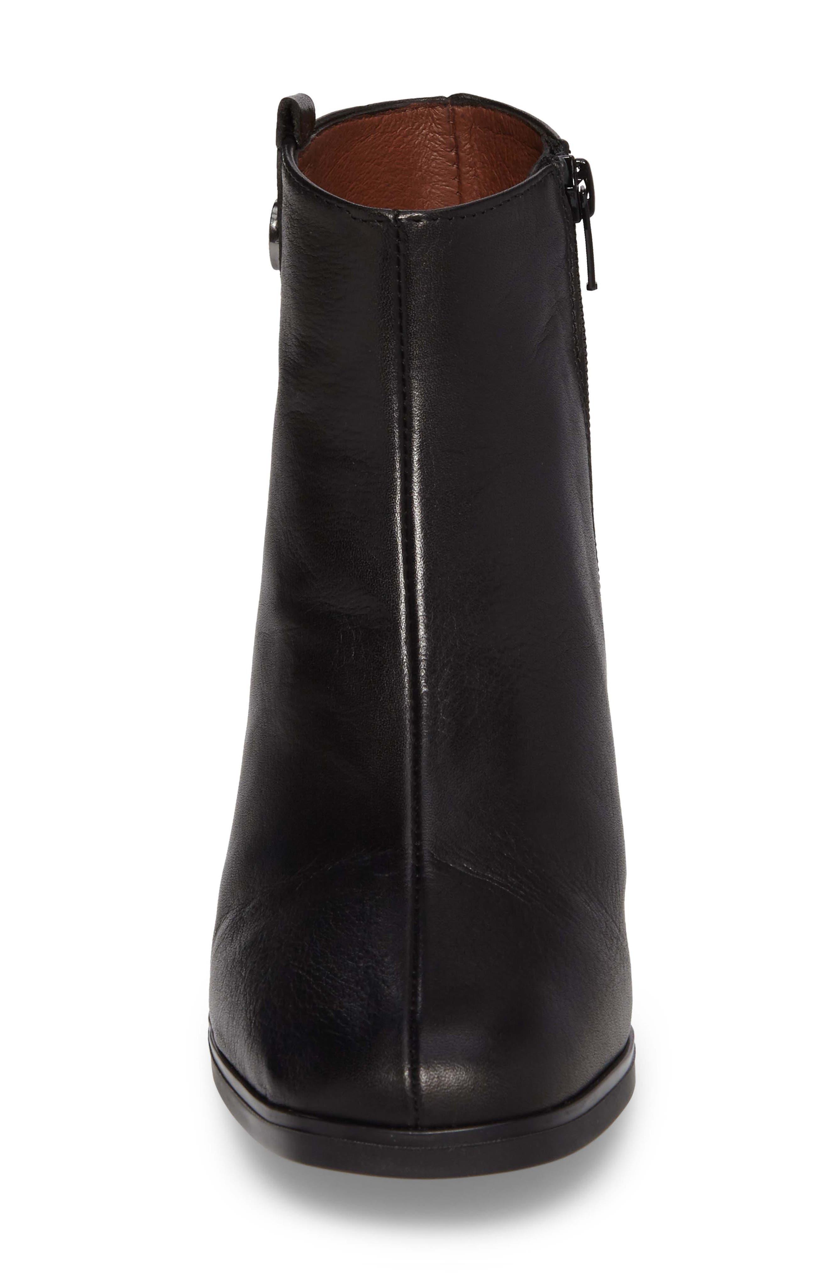 Christa Bootie,                             Alternate thumbnail 4, color,                             Soho Black Leather