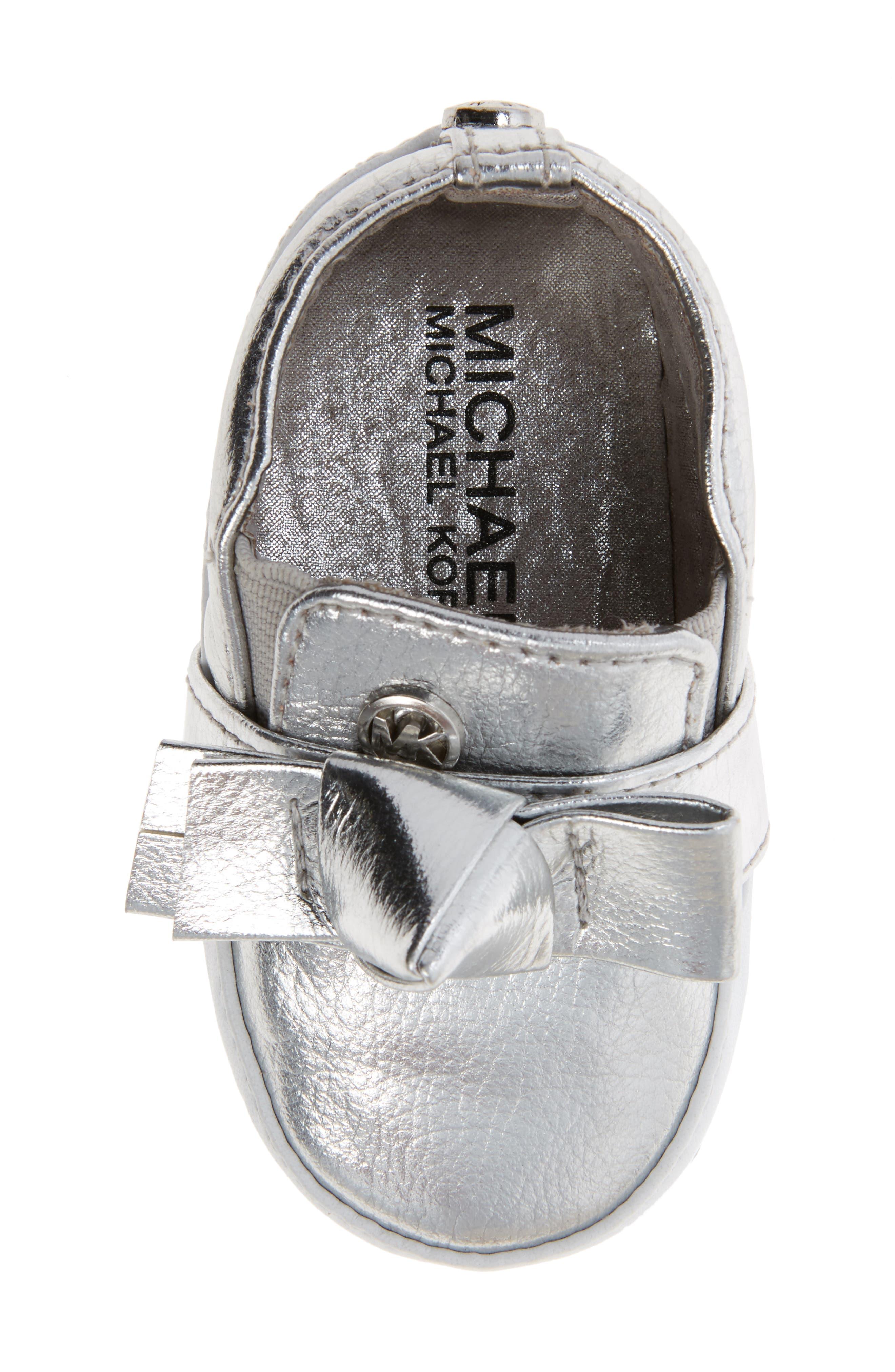 Alternate Image 5  - MICHAEL Michael Kors Baby Poppy Slip-On Crib Shoe (Baby)