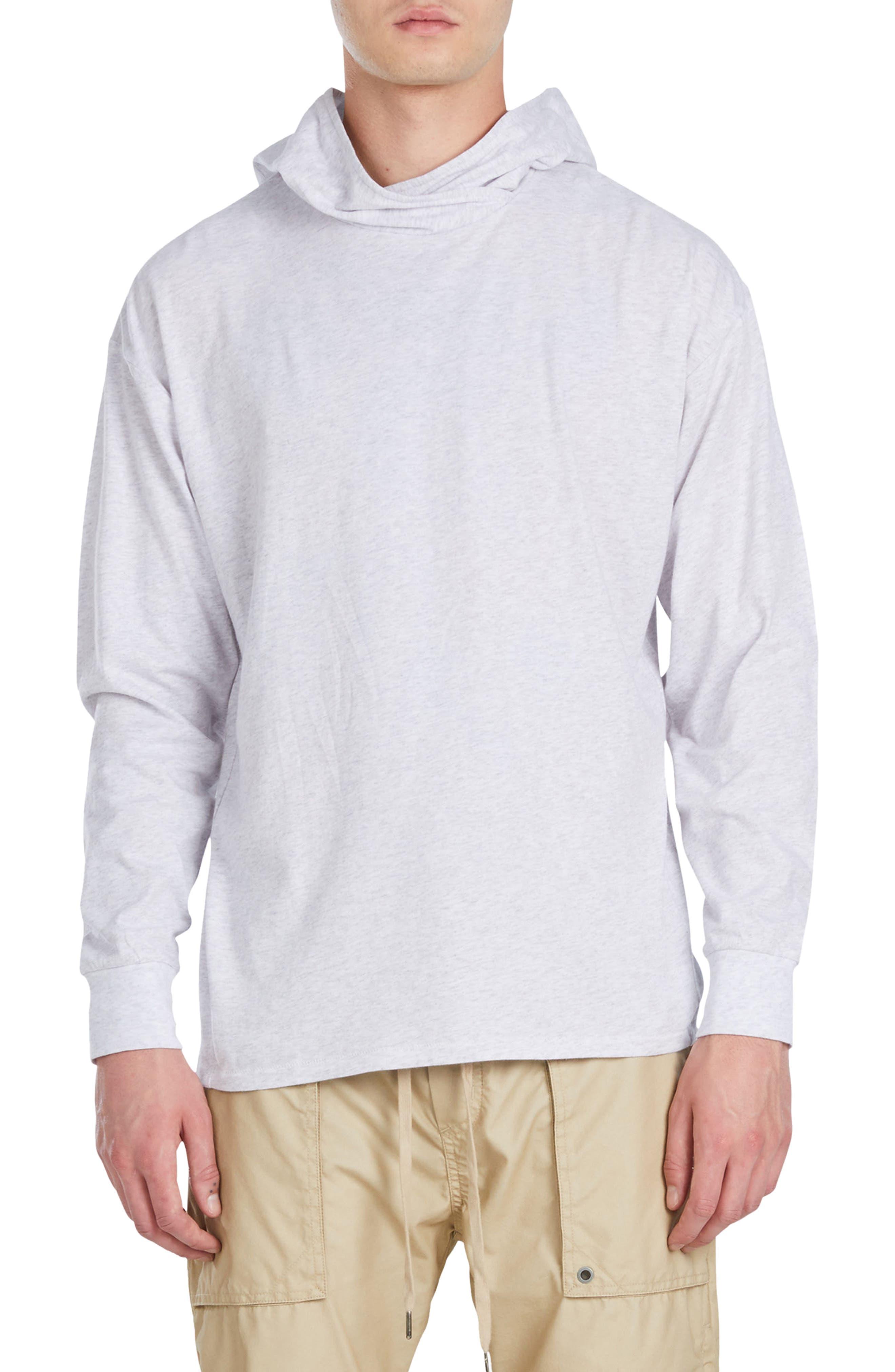 Rugger Long Sleeve Hooded T-Shirt,                         Main,                         color, Bleach Marled