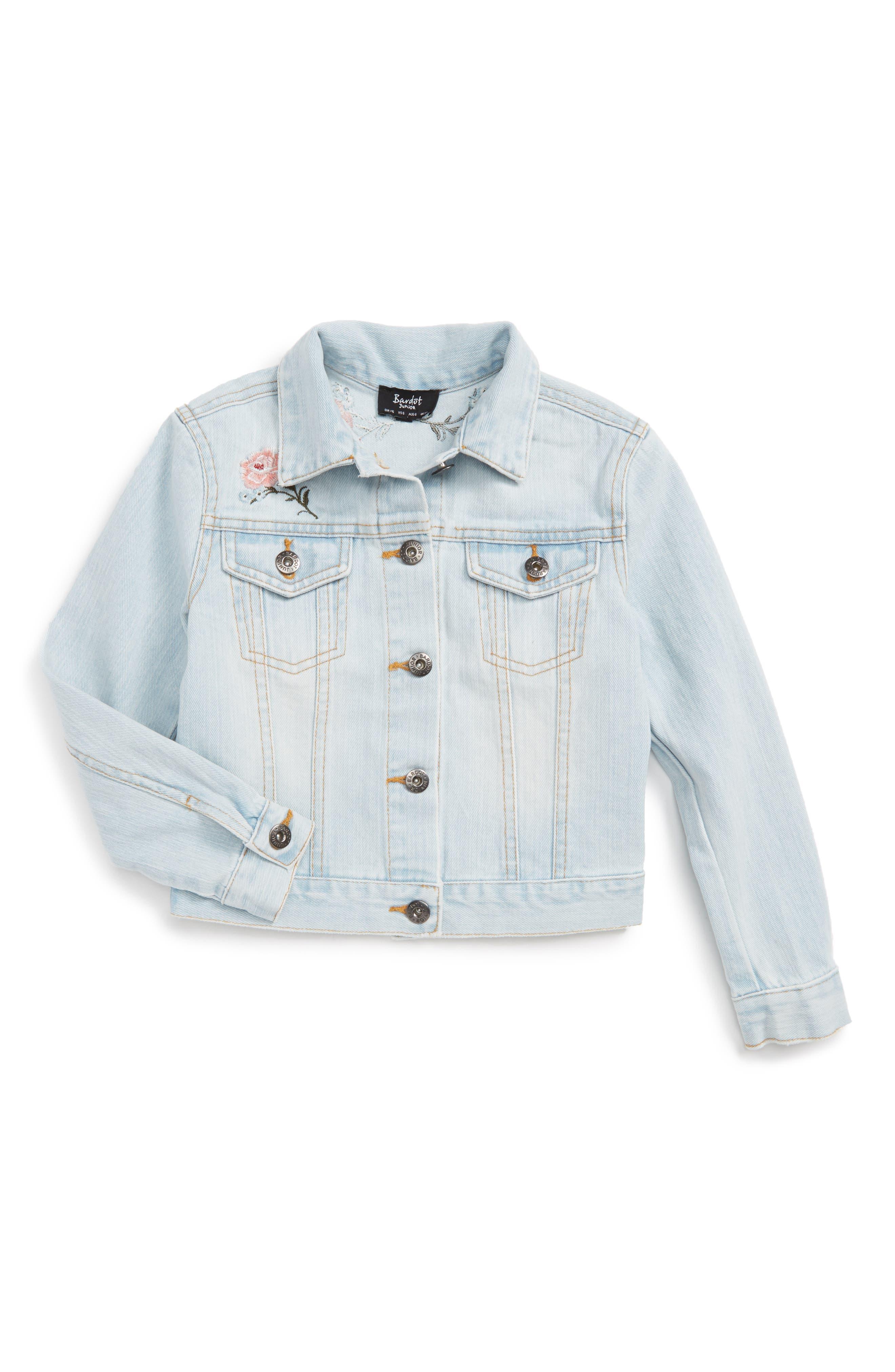 Bardot Junior Embroidered Denim Jacket (Little Girls)