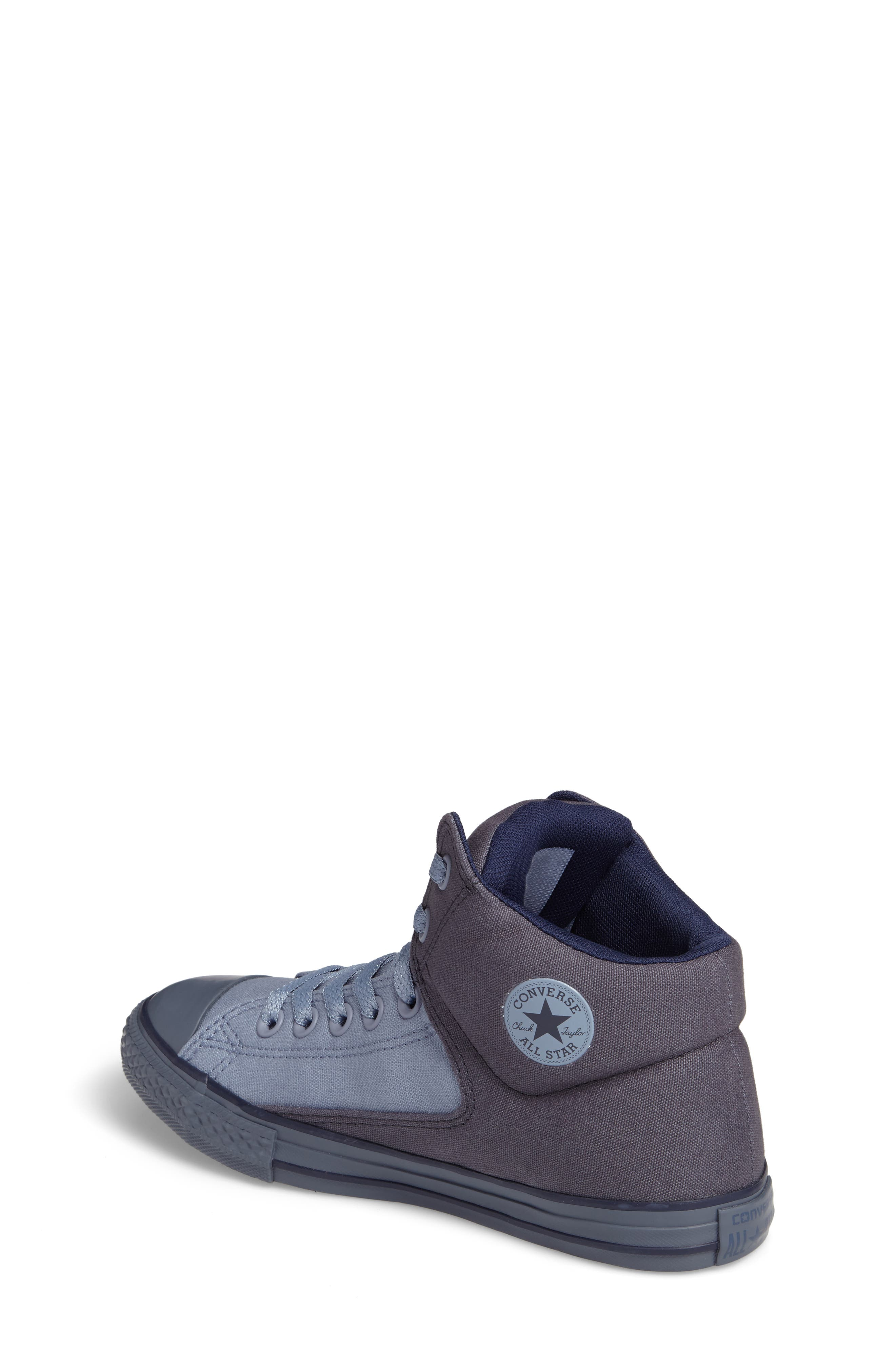 Chuck Taylor<sup>®</sup> All Star<sup>®</sup> High Street High Top Sneaker,                             Alternate thumbnail 2, color,                             Sharkskin Canvas