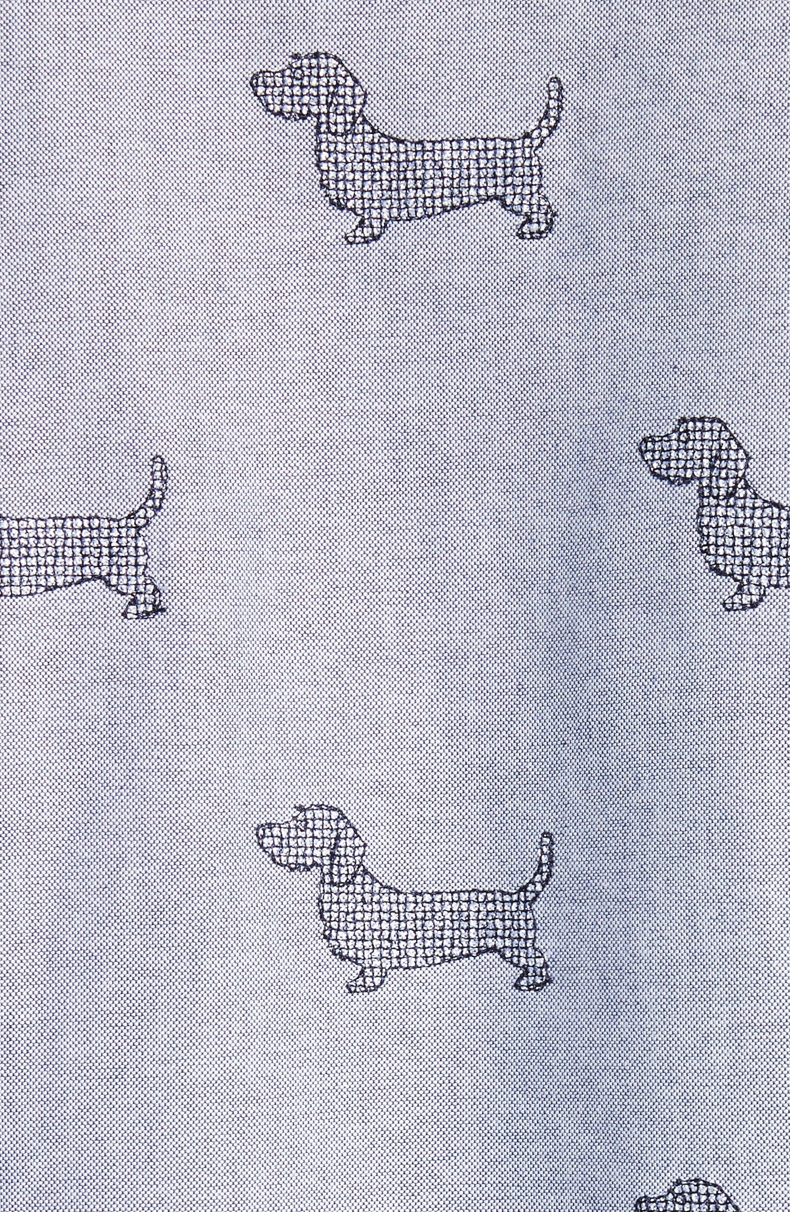 Alternate Image 5  - Thom Browne Daschund Kitty Print Shirt