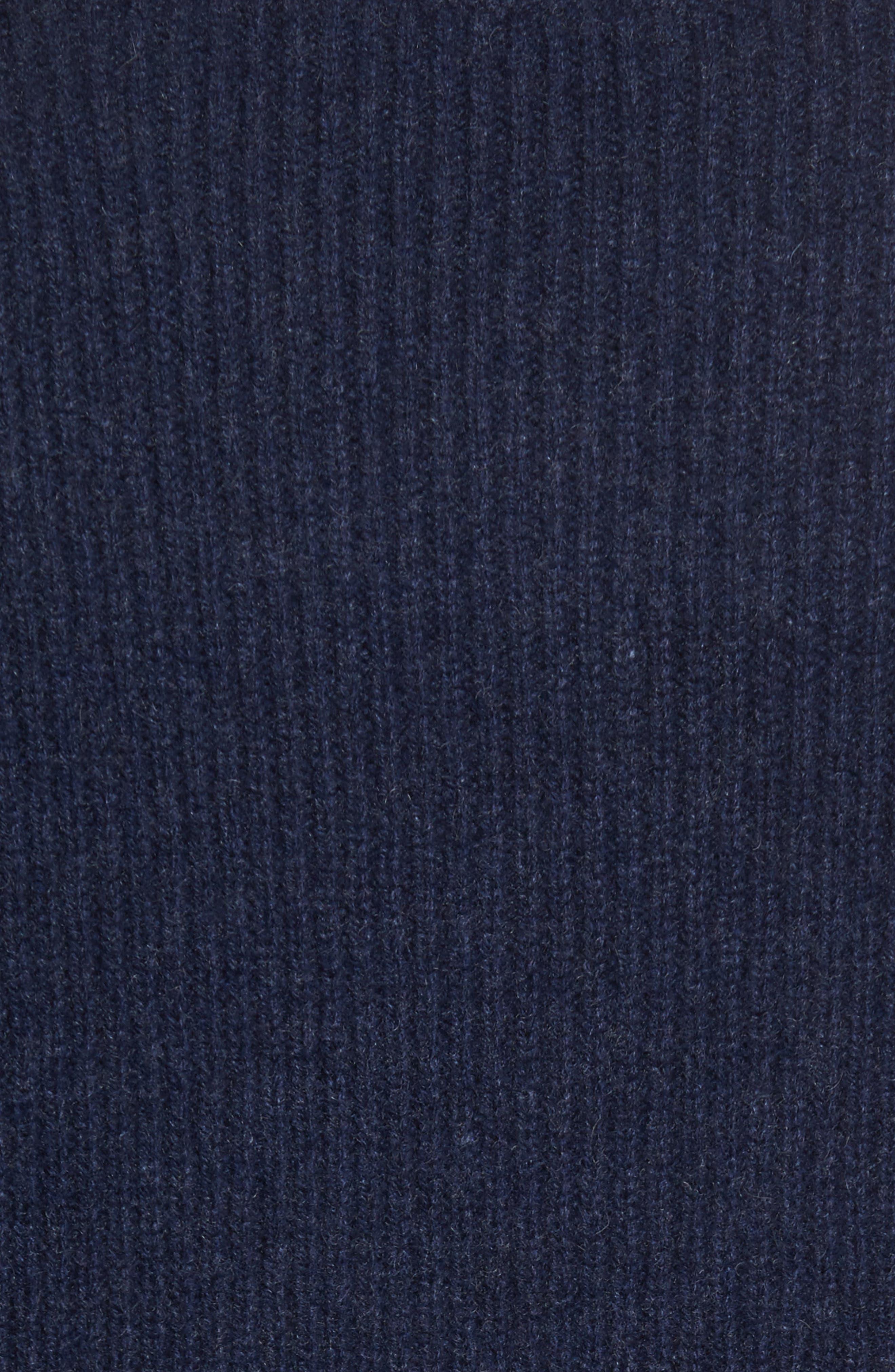 Ribbed Wool & Cashmere Raglan Sweater,                             Alternate thumbnail 6, color,                             Coastal