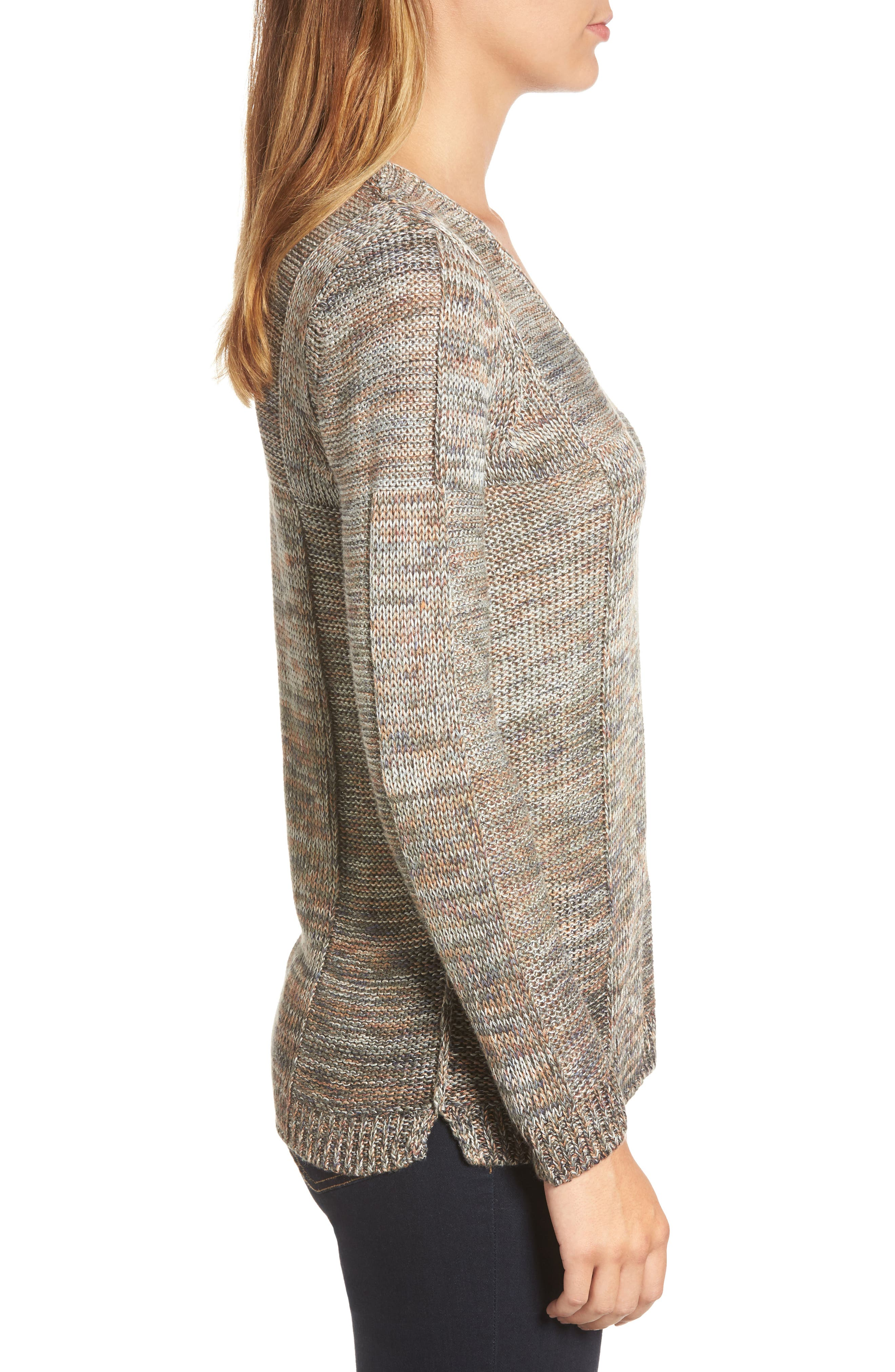 Textured Ombré Sweater,                             Alternate thumbnail 3, color,                             Multi