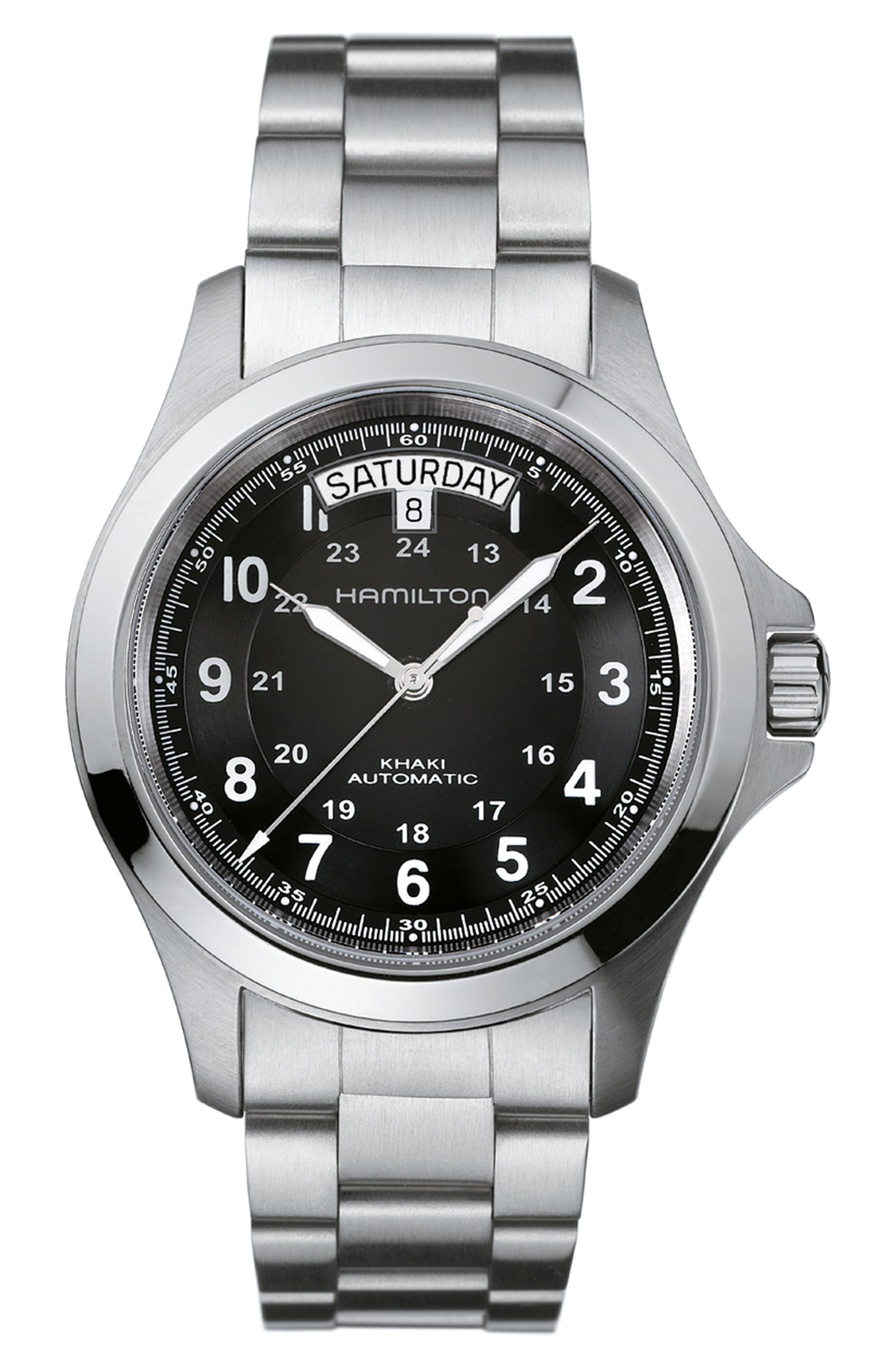 HAMILTON Khaki Field King Automatic Bracelet Watch, 40mm