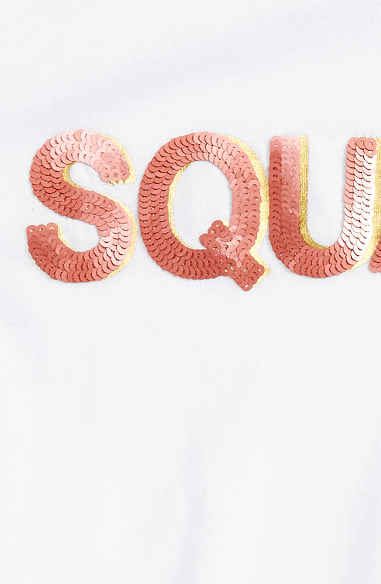 Sequin Squad Tee,                             Alternate thumbnail 2, color,                             White
