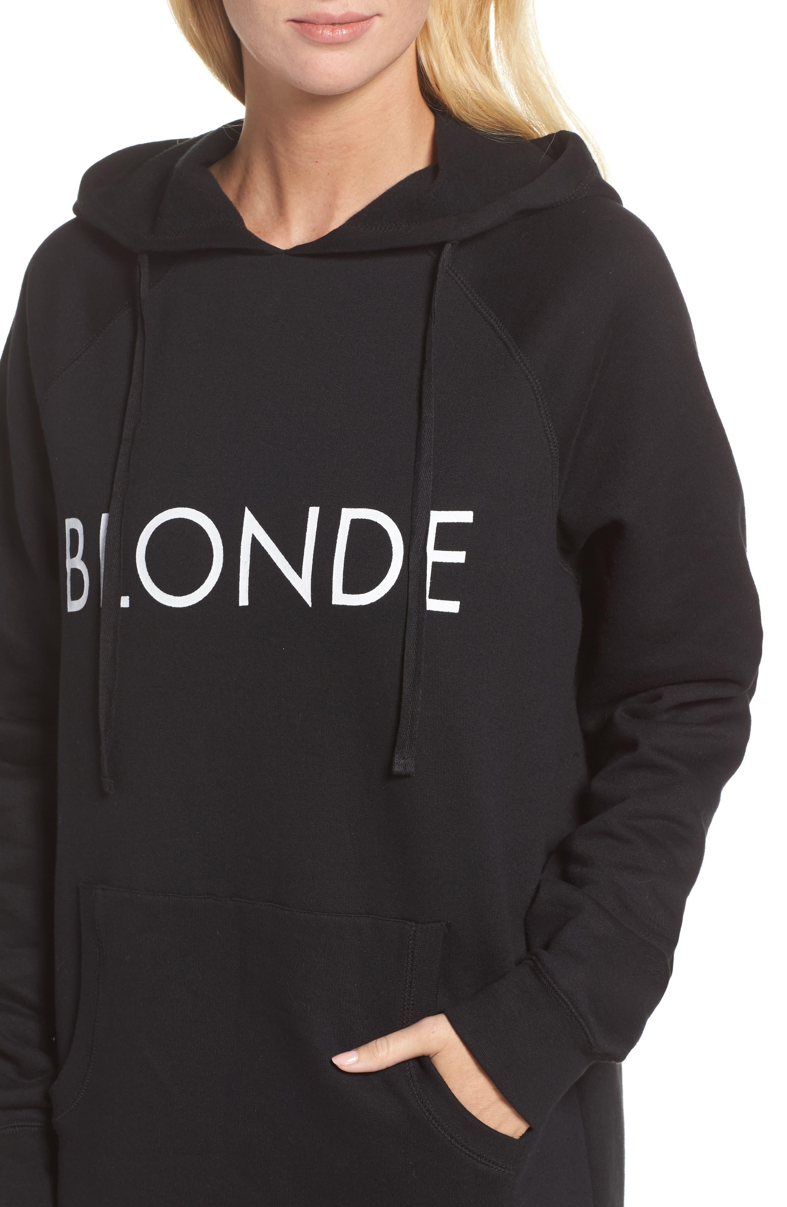 Alternate Image 4  - BRUNETTE the Label Blonde Tunic Hoodie