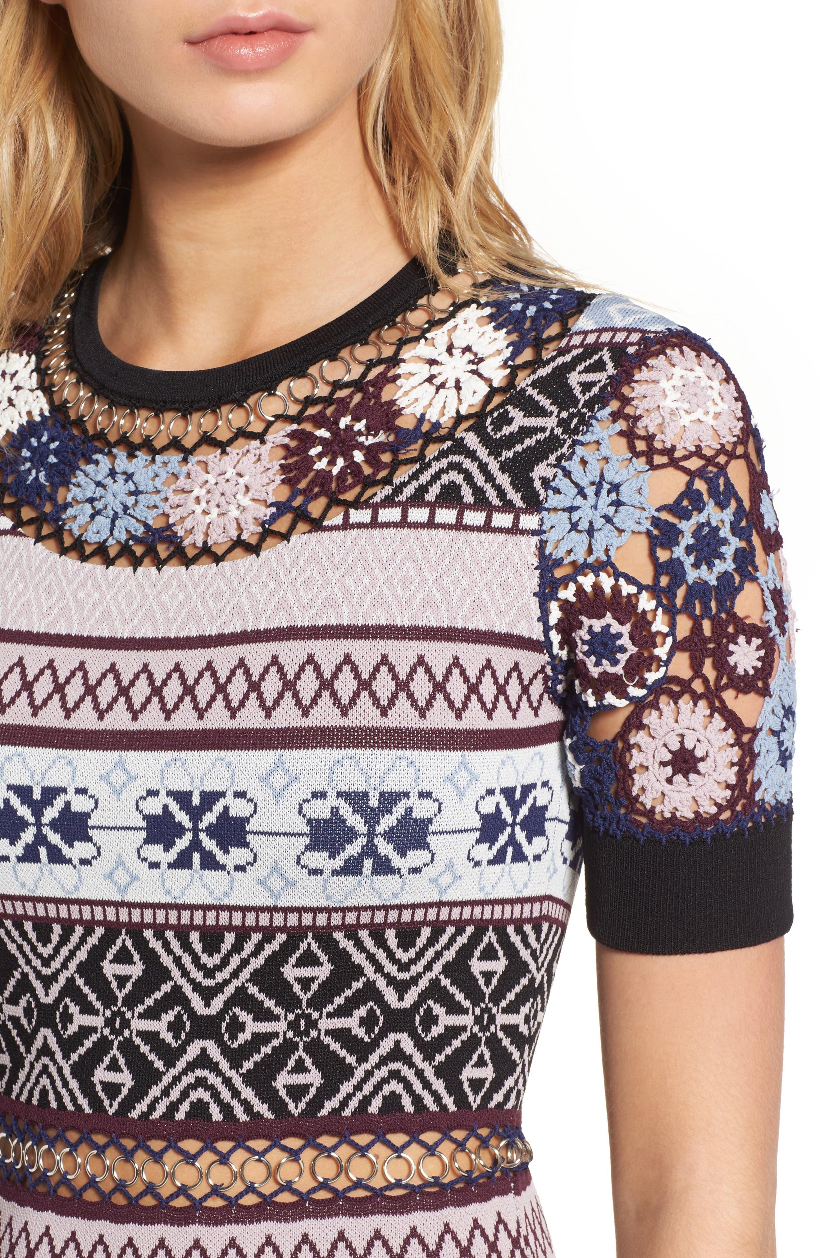 Alternate Image 4  - Parker Carol Crochet Pencil Dress