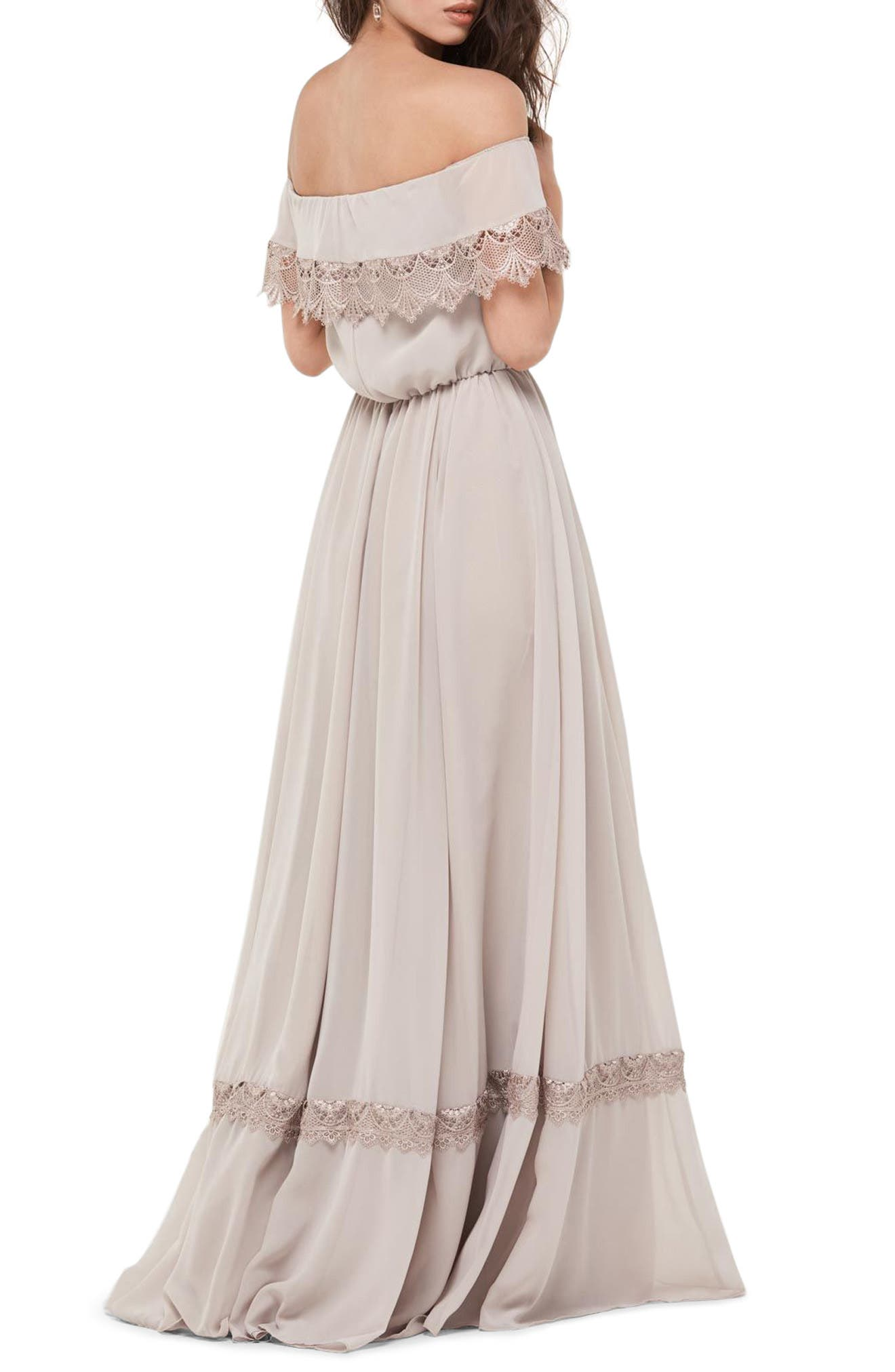 Alternate Image 2  - WTOO Inna Off the Shoulder Chiffon Blouson Gown