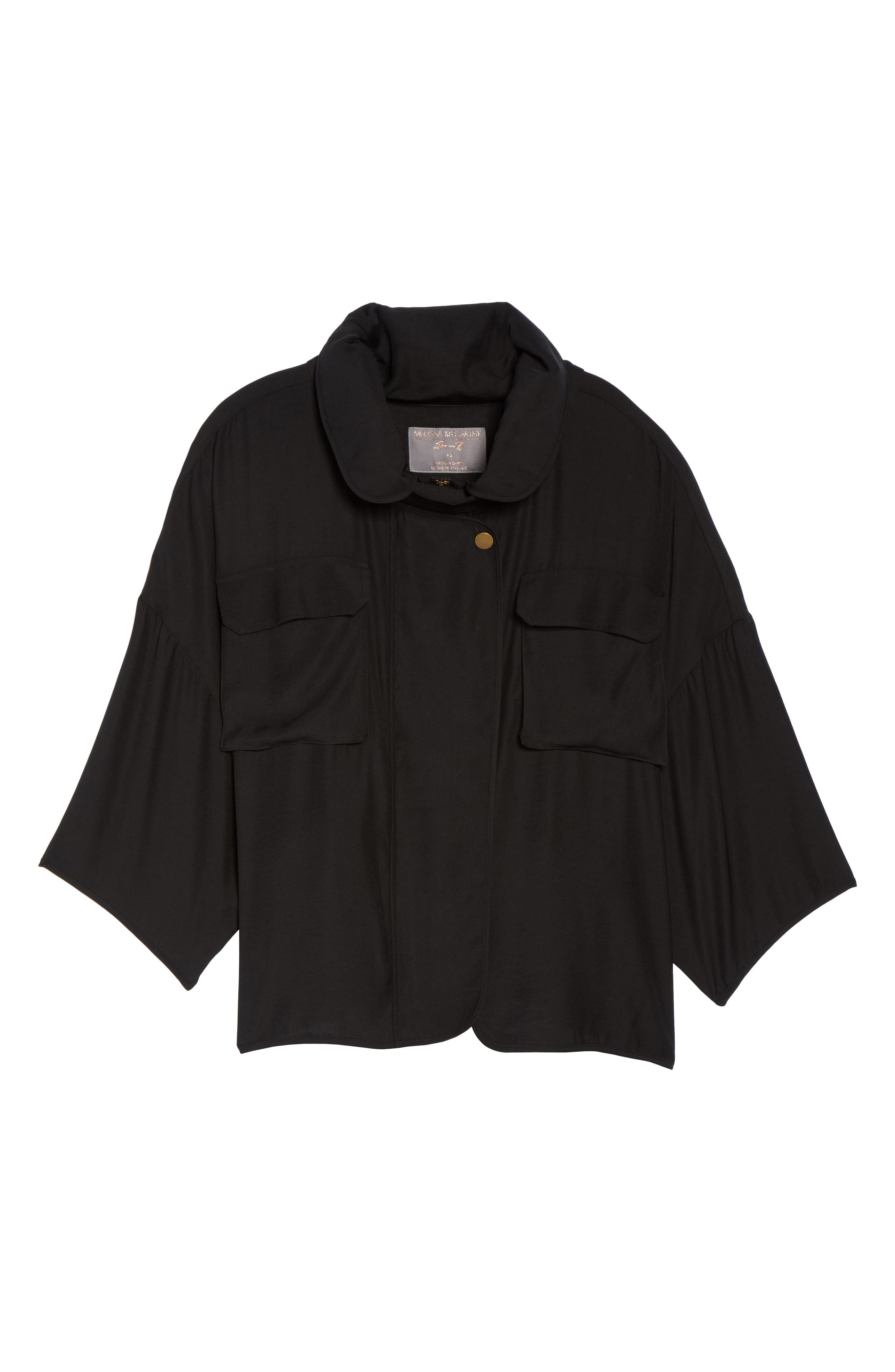 Utility Jacket,                             Alternate thumbnail 6, color,                             Black