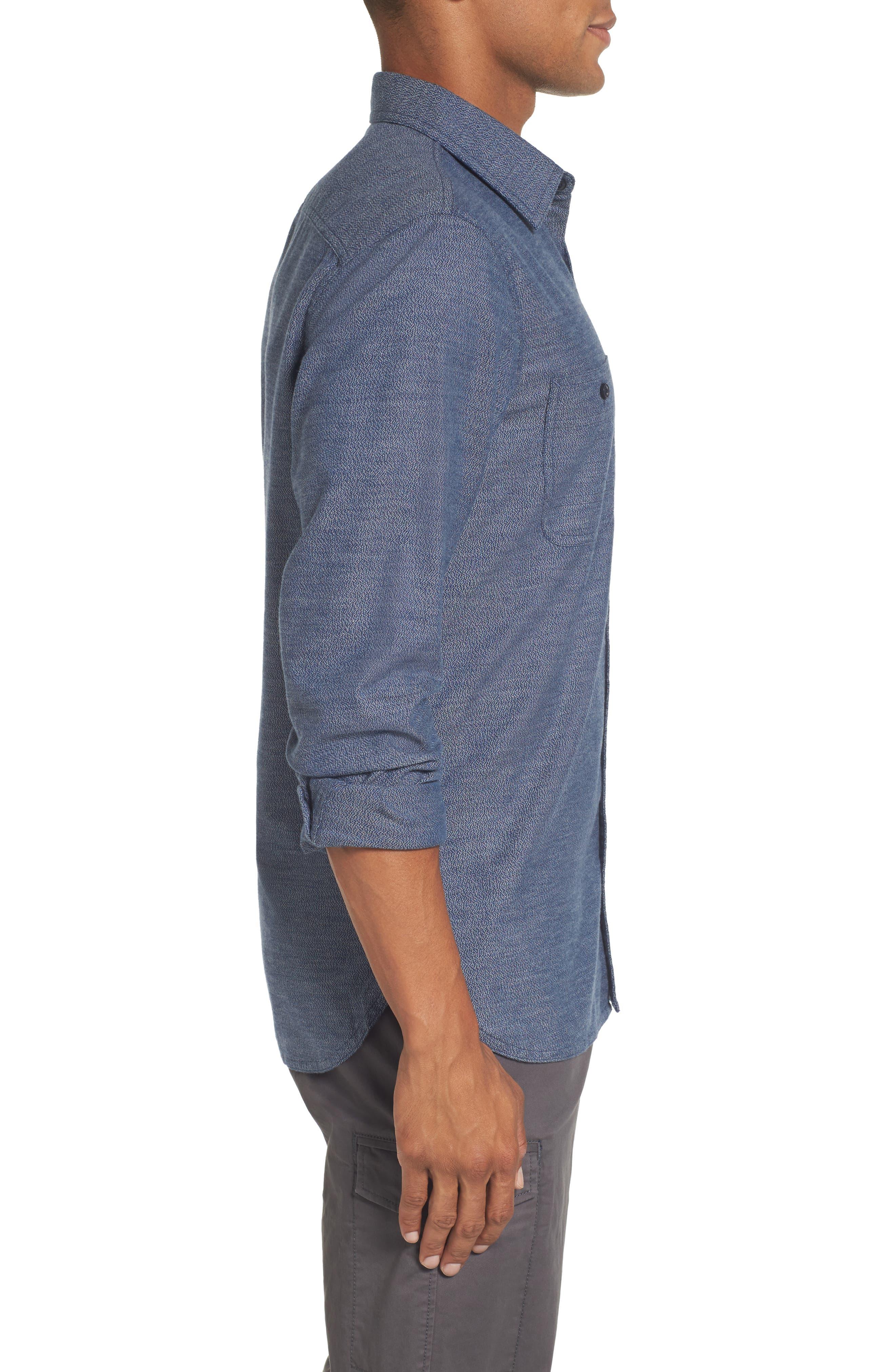 Alternate Image 3  - Nordstrom Men's Shop Slim Fit Jaspé Sport Shirt (Regular & Tall)