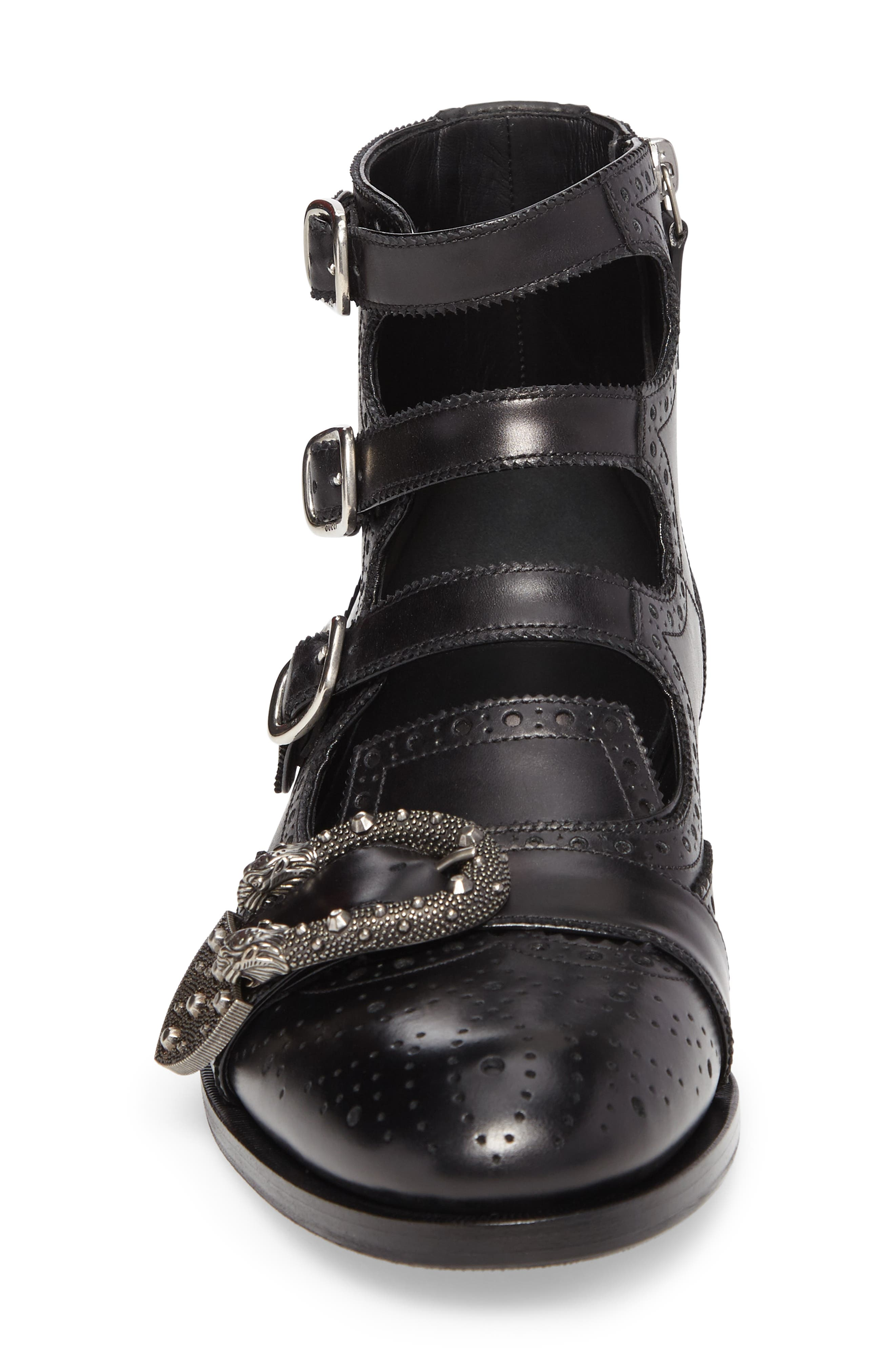 Queercore Boot,                             Alternate thumbnail 4, color,                             Nero Leather
