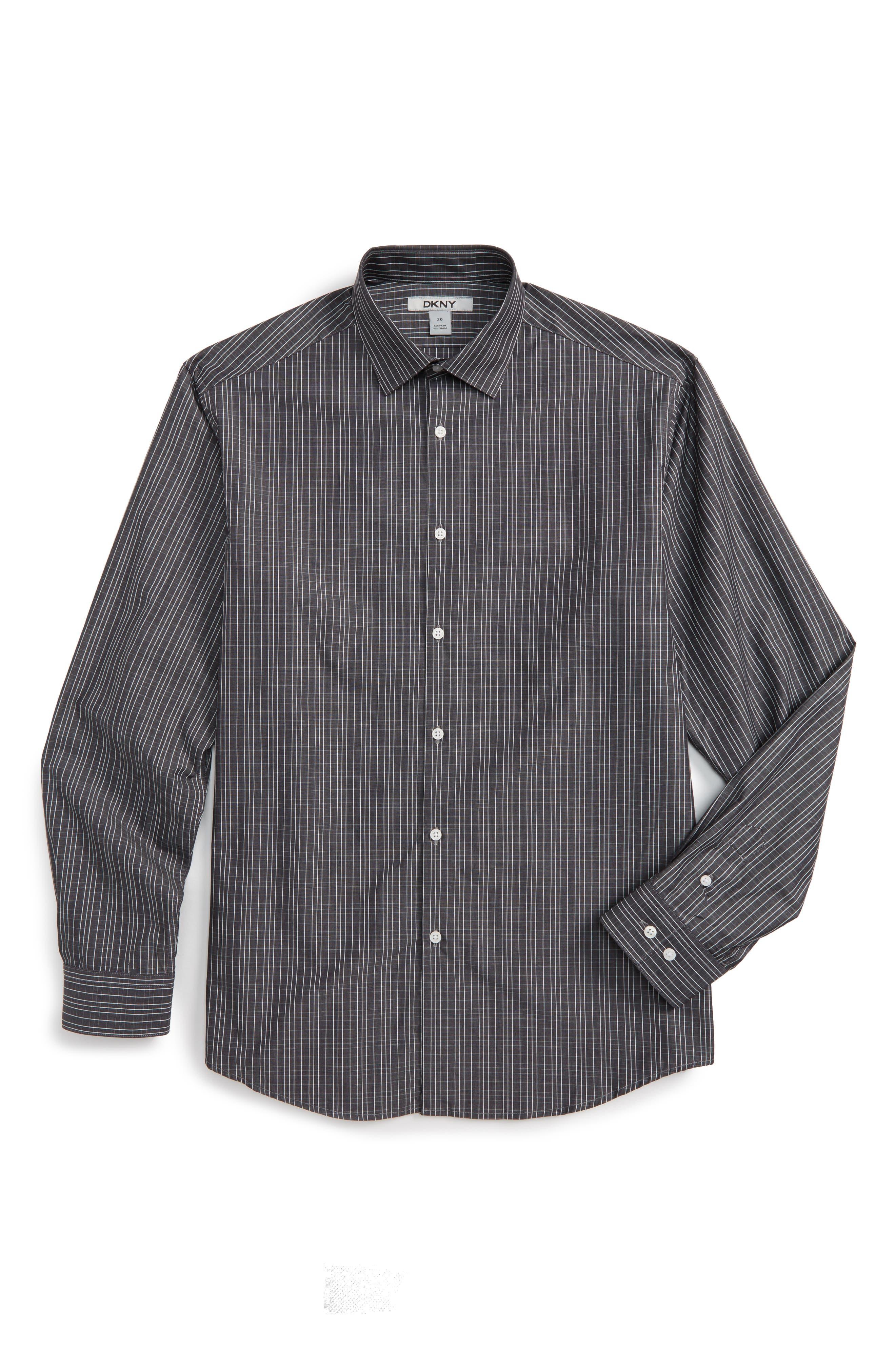 Stripe Dress Shirt,                         Main,                         color, Black