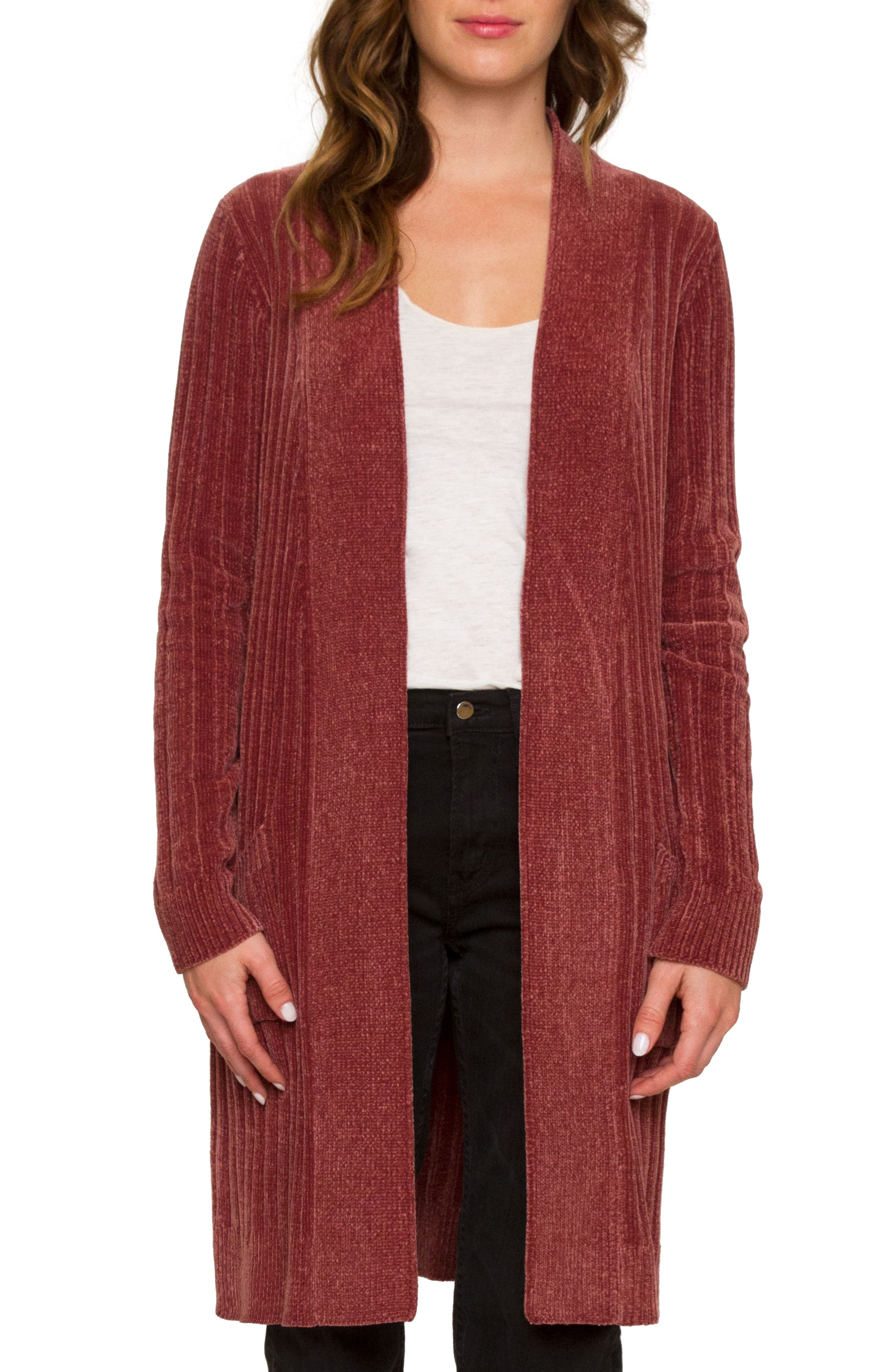 Alternate Image 1 Selected - Willow & Clay Long Cardigan