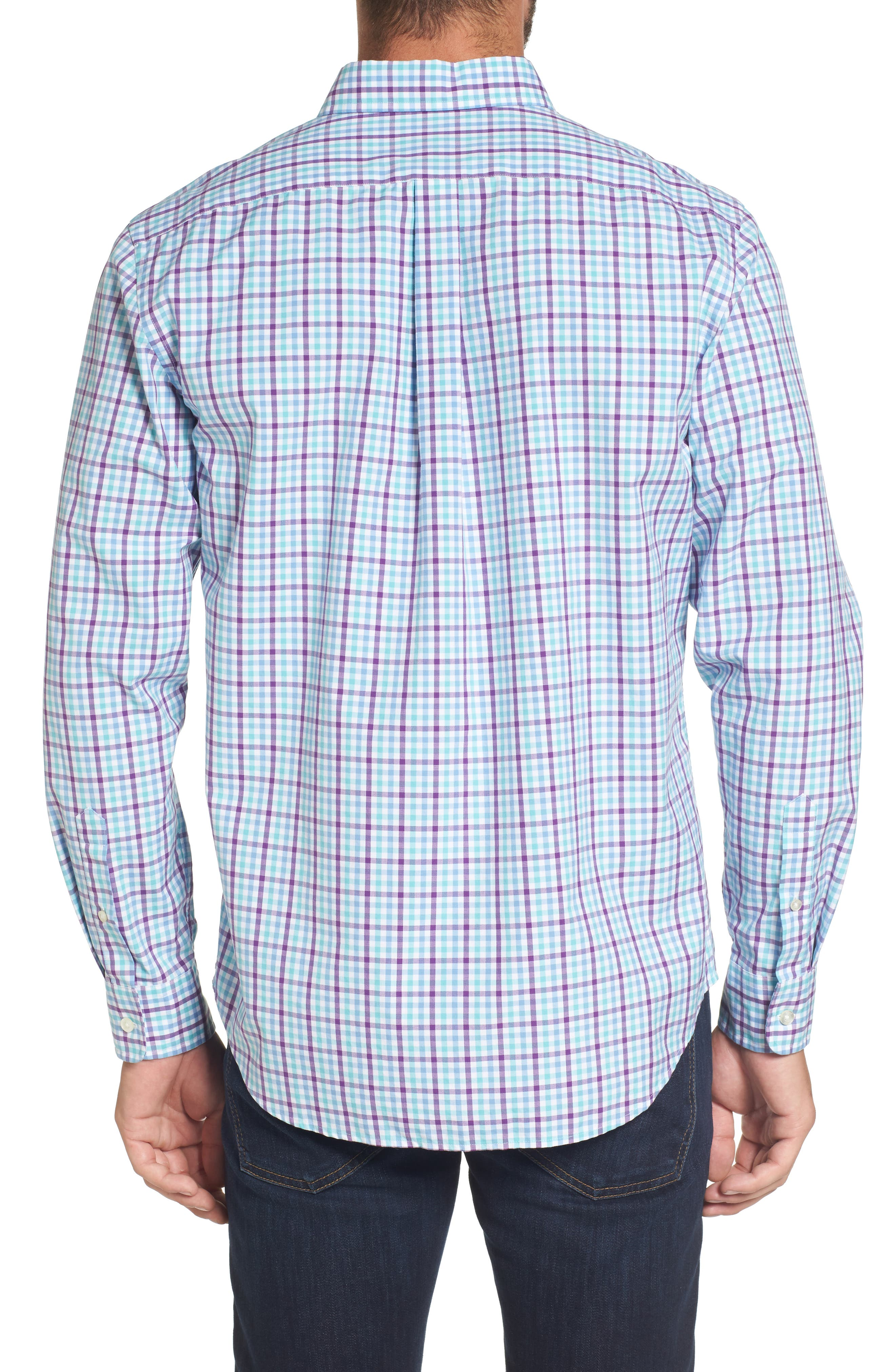 Alternate Image 2  - vineyard vines Tucker Classic Fit Gingham Sport Shirt