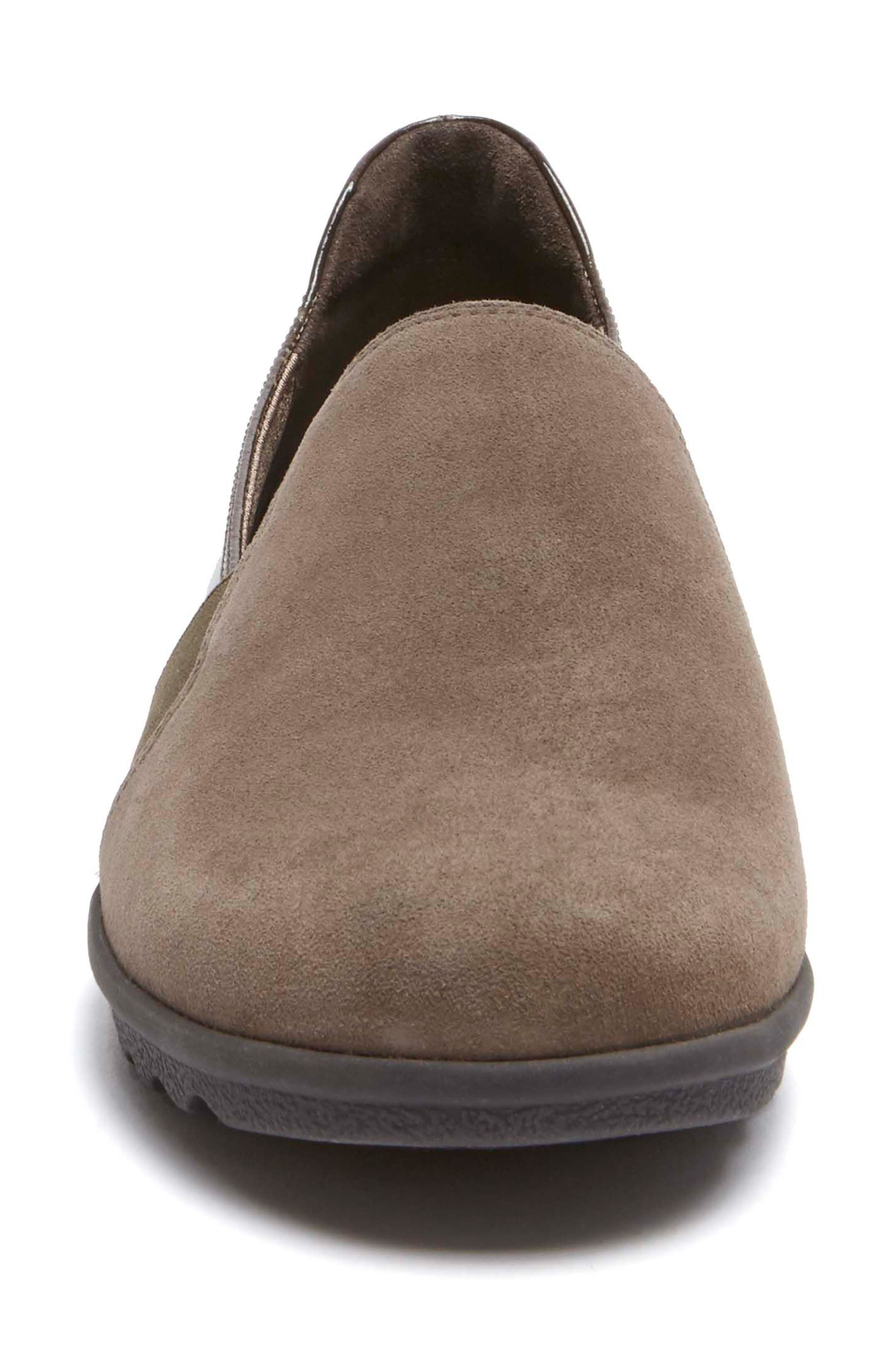 Chenole Loafer,                             Alternate thumbnail 4, color,                             Olive/ Grey Suede