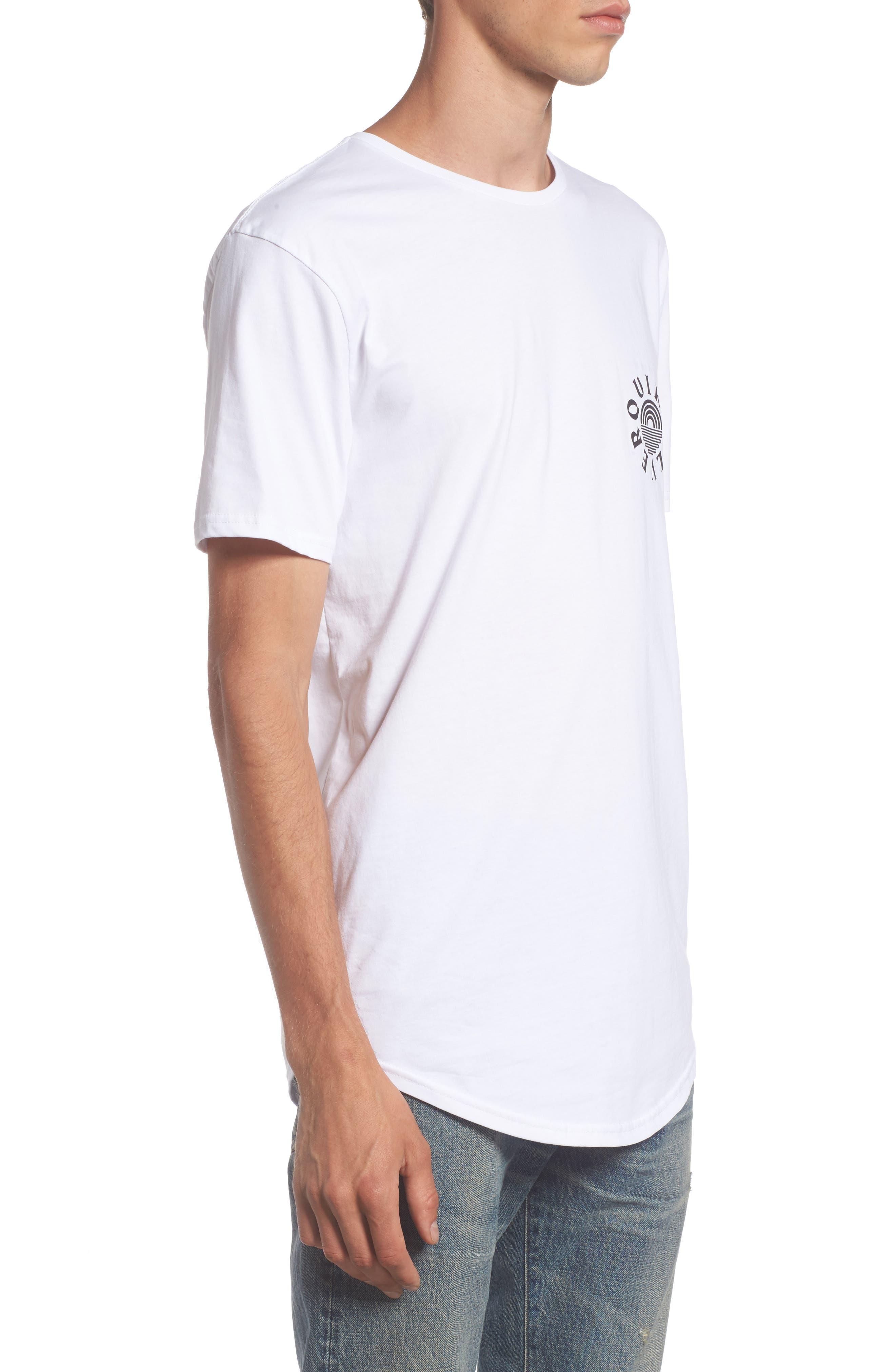 Rising Dog Logo T-Shirt,                             Alternate thumbnail 3, color,                             White