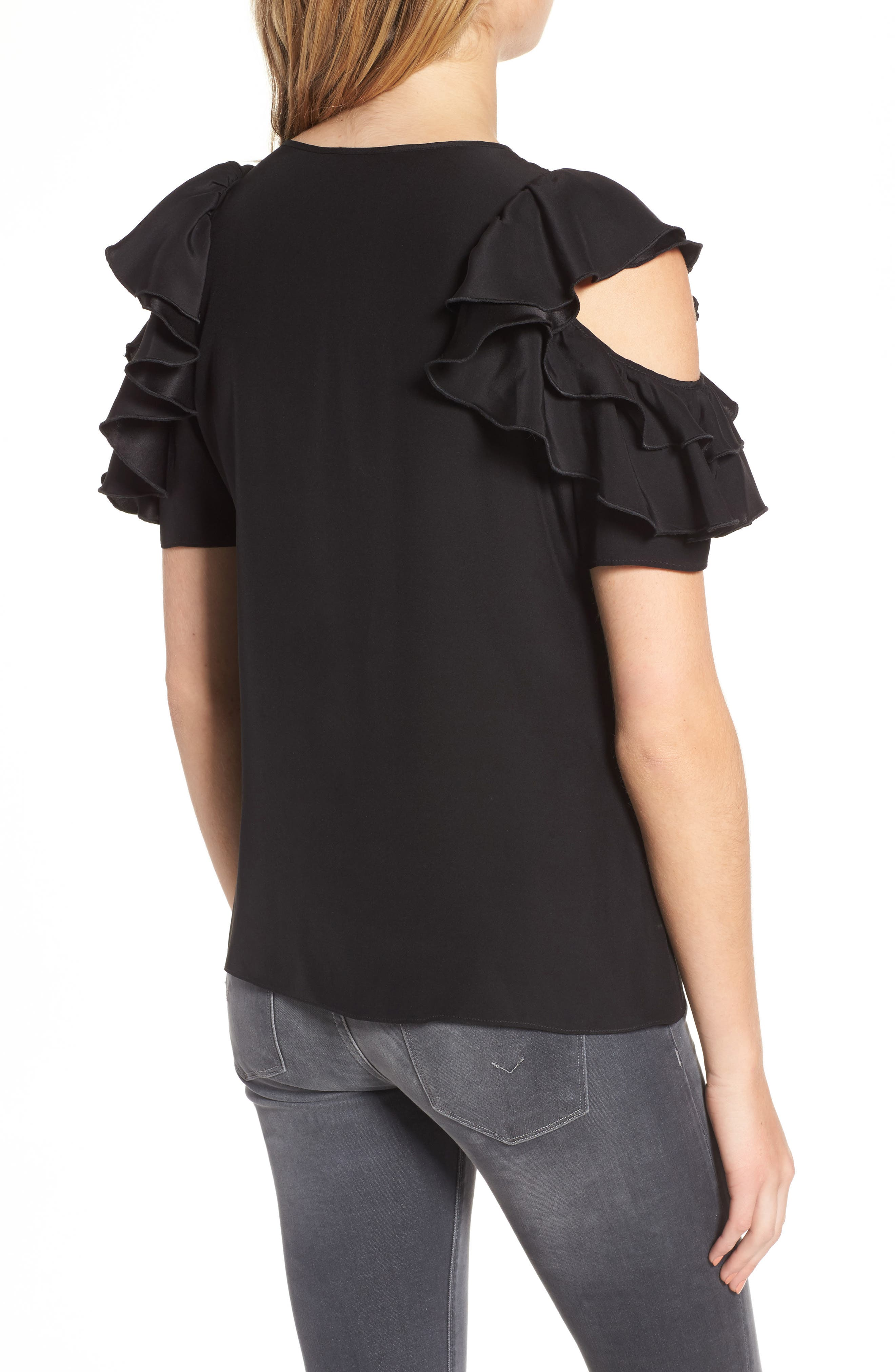 Alternate Image 2  - Parker Brandie Cold Shoulder Silk Top