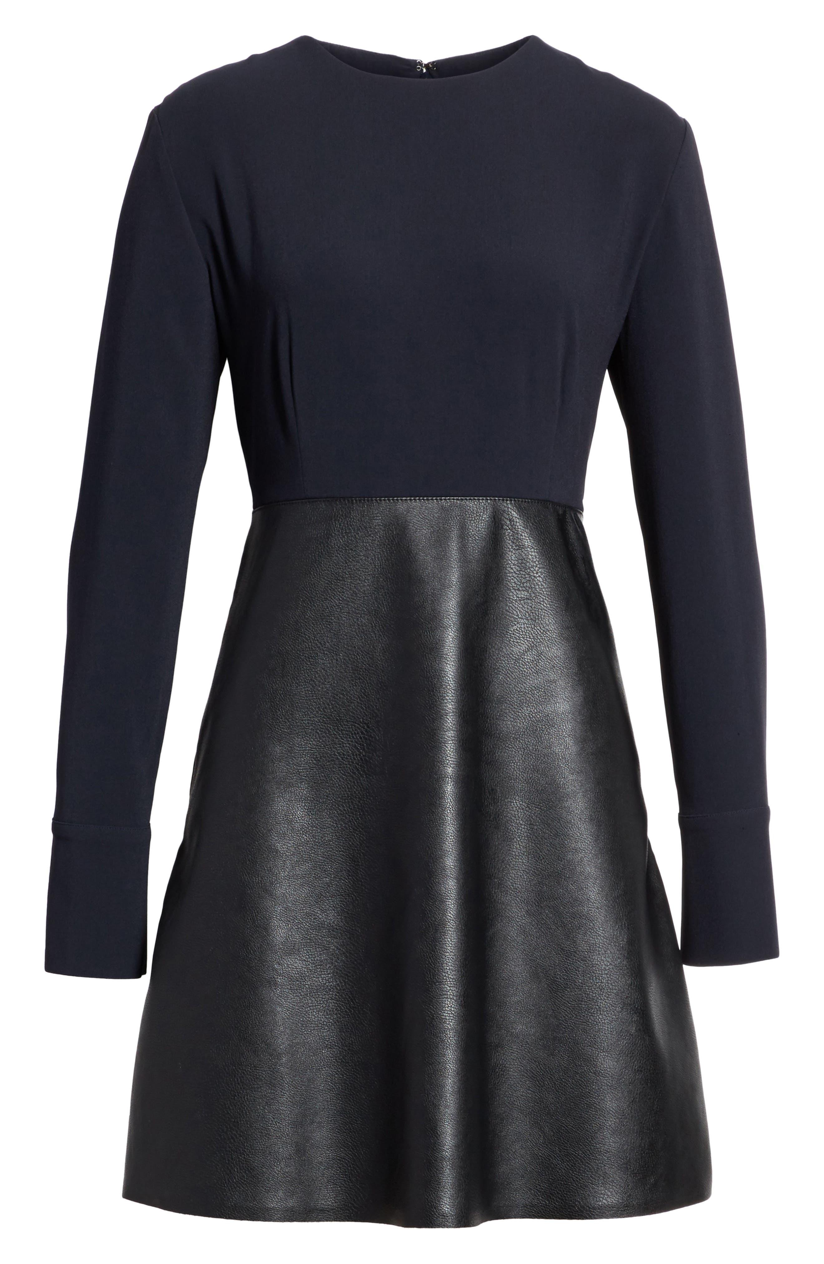 Alternate Image 6  - Stella McCartney Alter Leather & Stretch Cady Dress