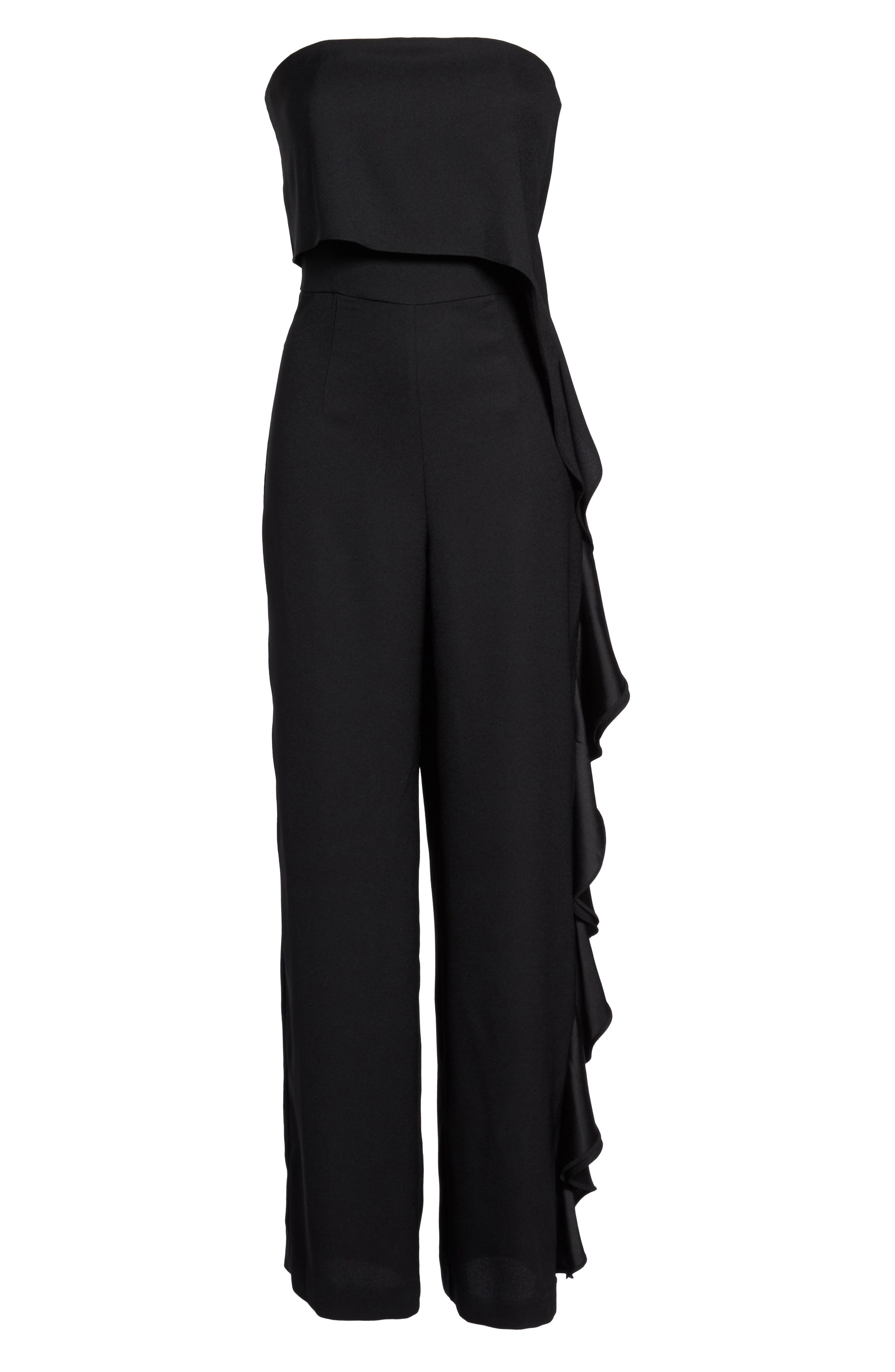 Alternate Image 6  - Eliza J Ruffle Side Strapless Jumpsuit