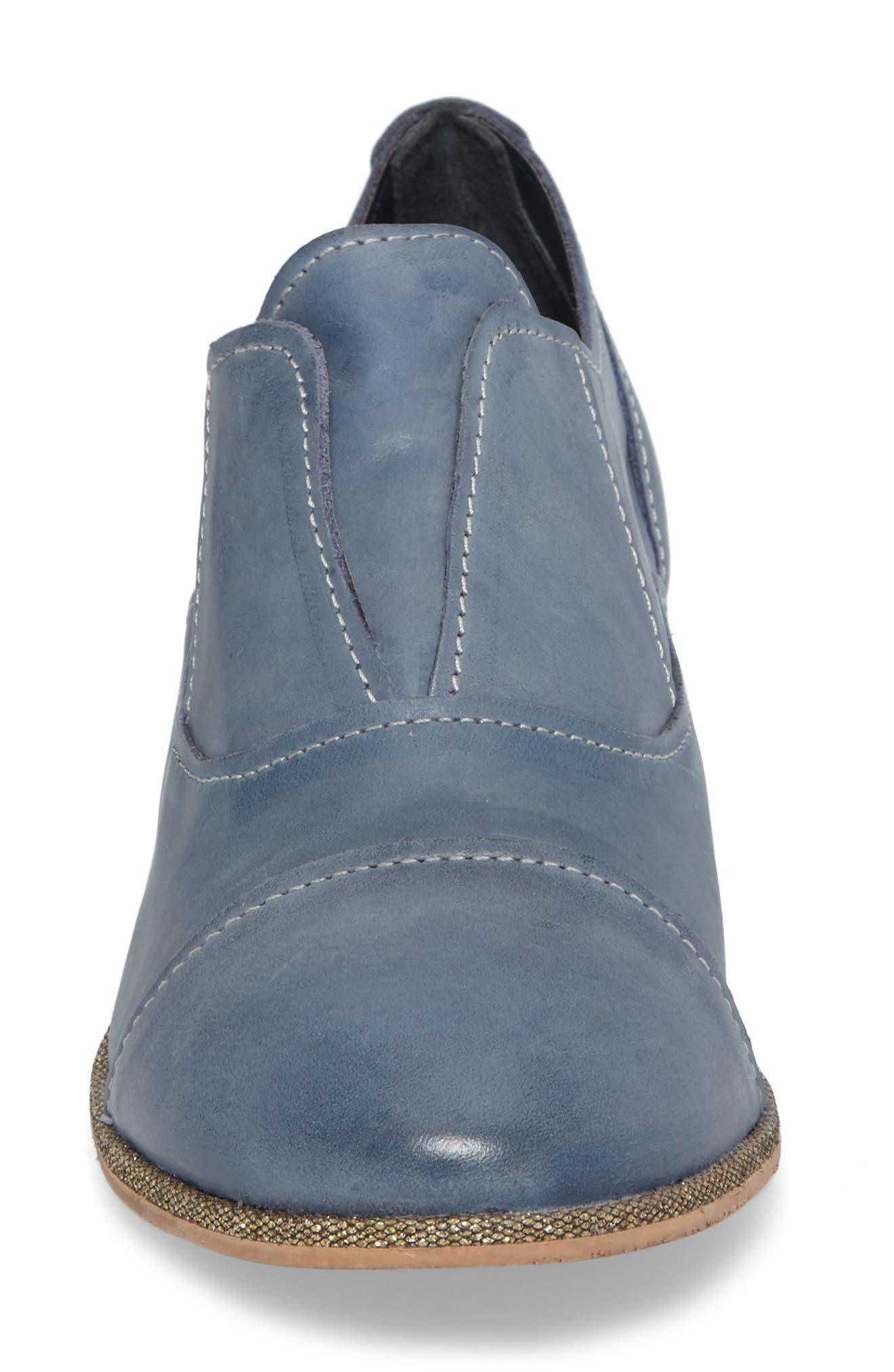Slip Knot Loafer,                             Alternate thumbnail 4, color,                             Blue Leather
