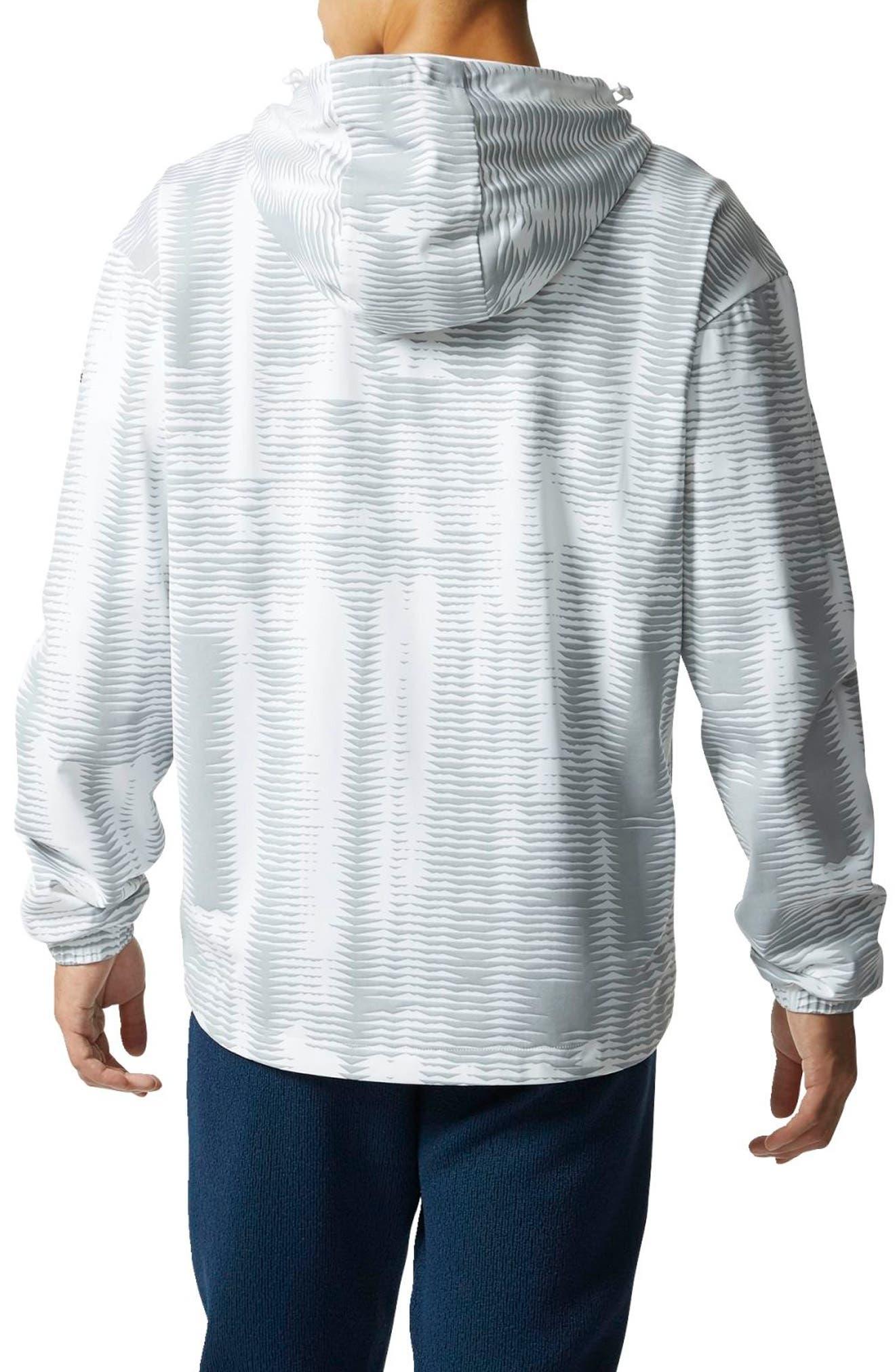 Alternate Image 2  - adidas Woven Windbreaker