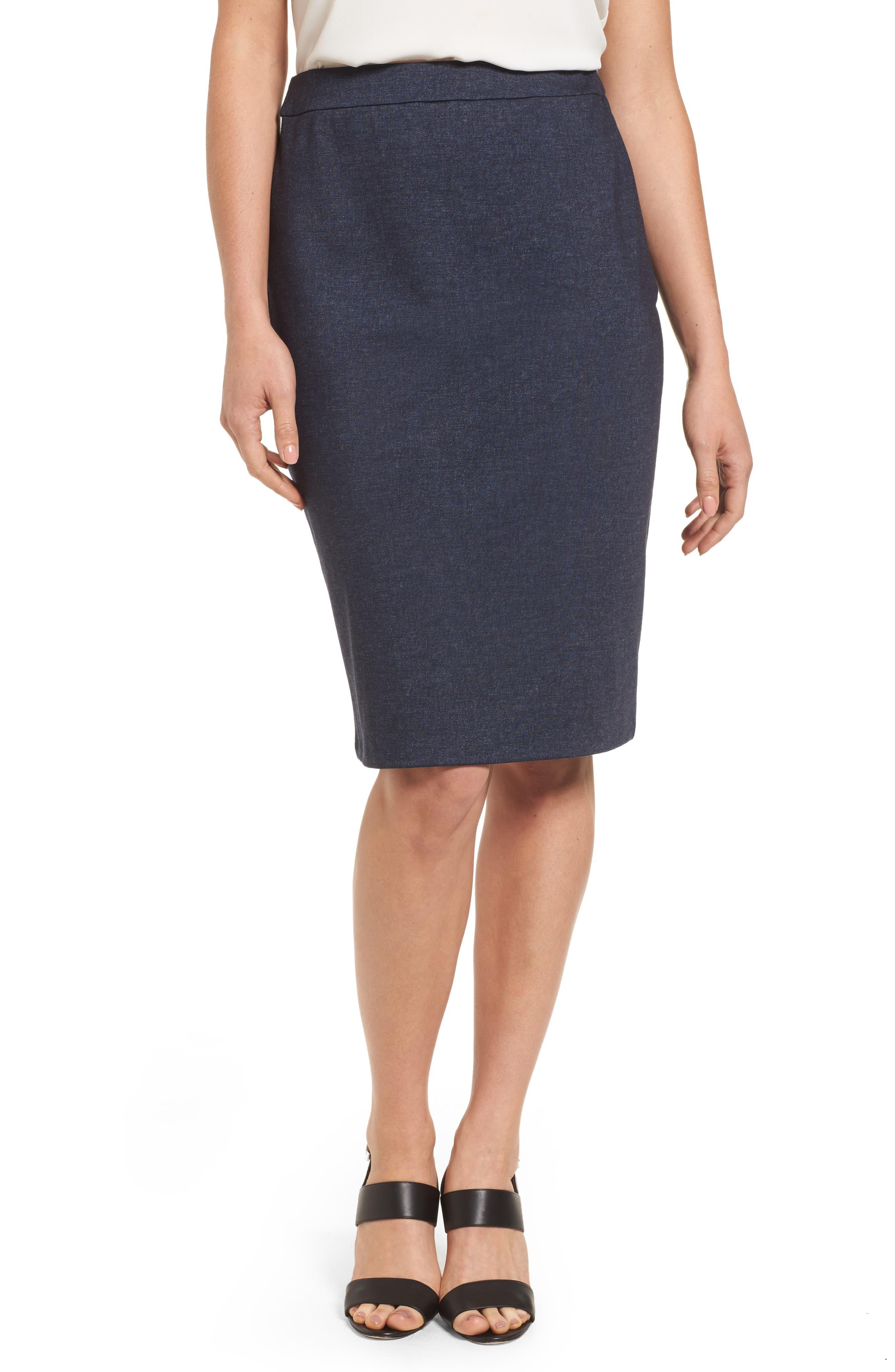 Alternate Image 1 Selected - Halogen® Knit Pencil Skirt (Regular & Petite)