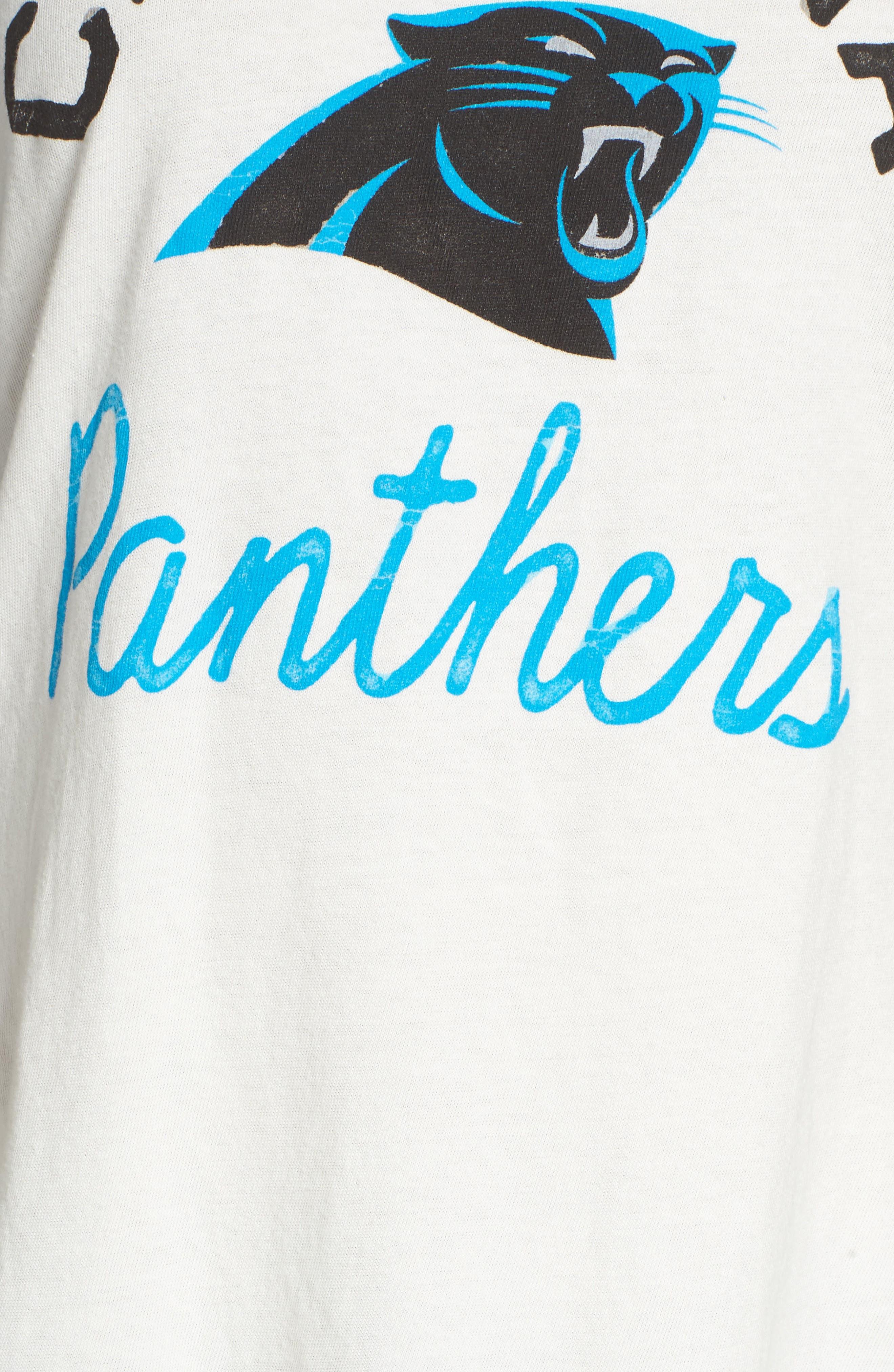NFL Carolina Panthers Raglan Tee,                             Alternate thumbnail 5, color,                             Sugar/ True Black