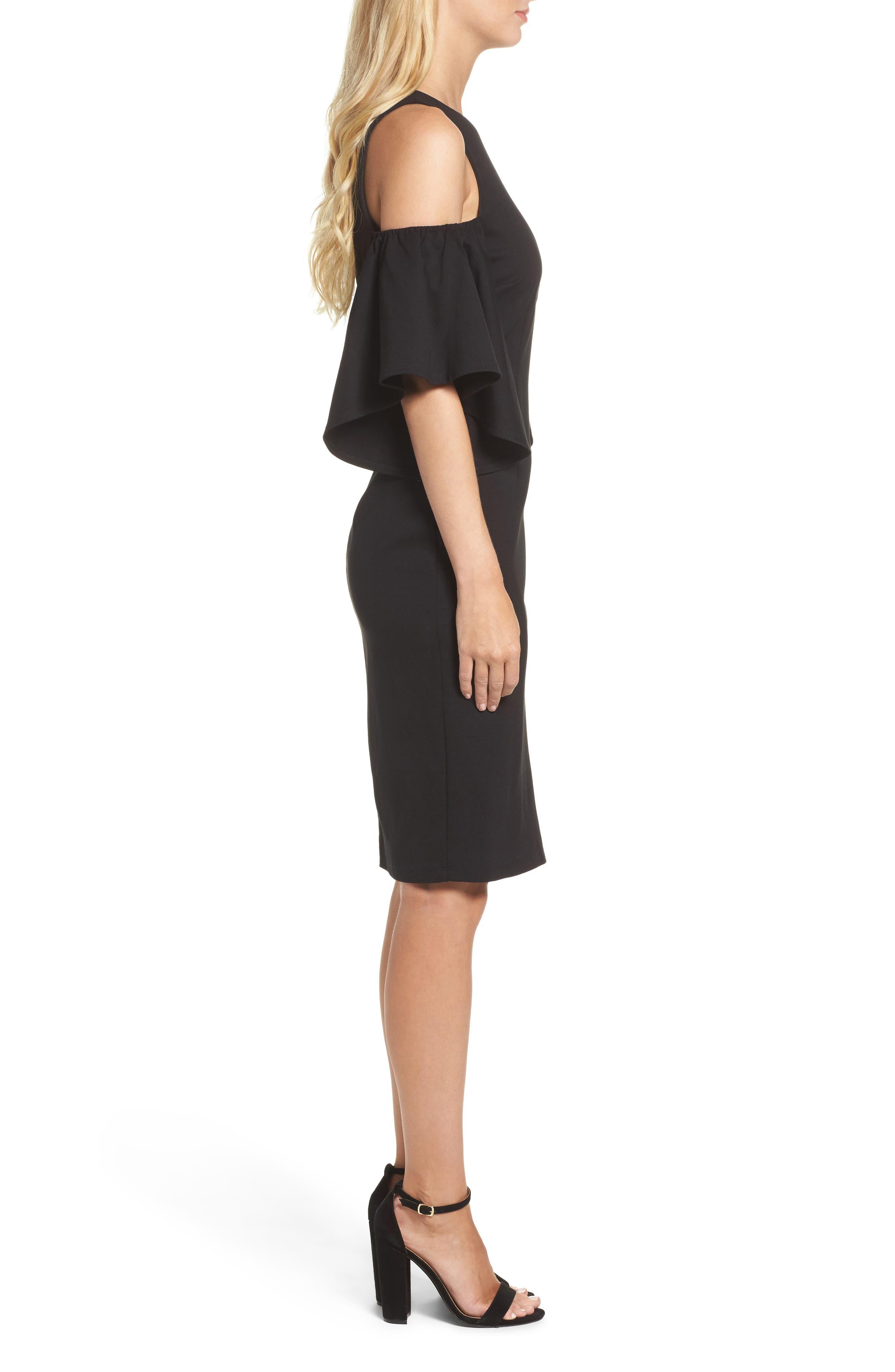 Alternate Image 3  - Eliza J Cold Shoulder Sheath Dress