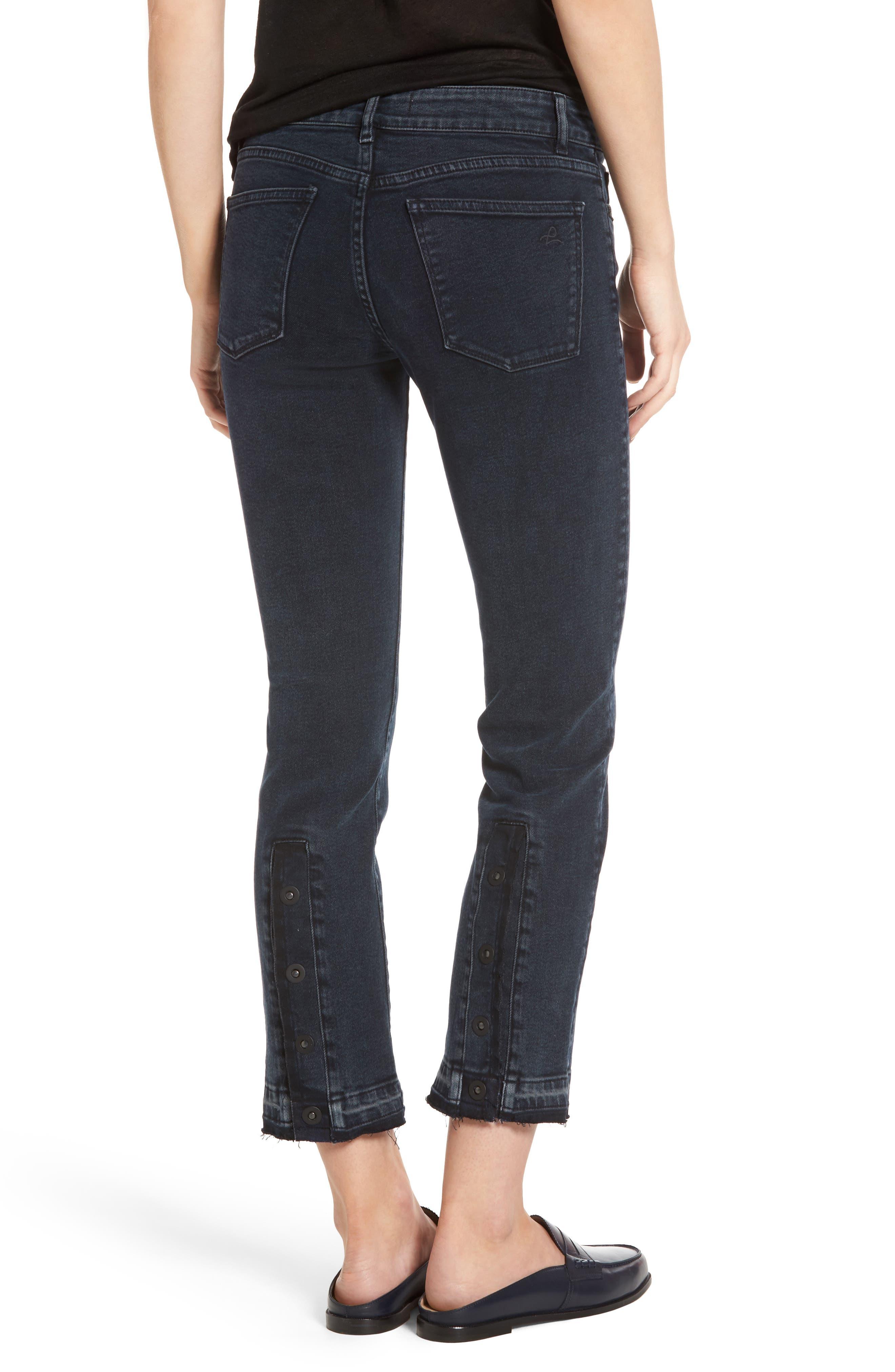 Mara Ankle Snap Straight Leg Jeans,                             Alternate thumbnail 2, color,                             Rye