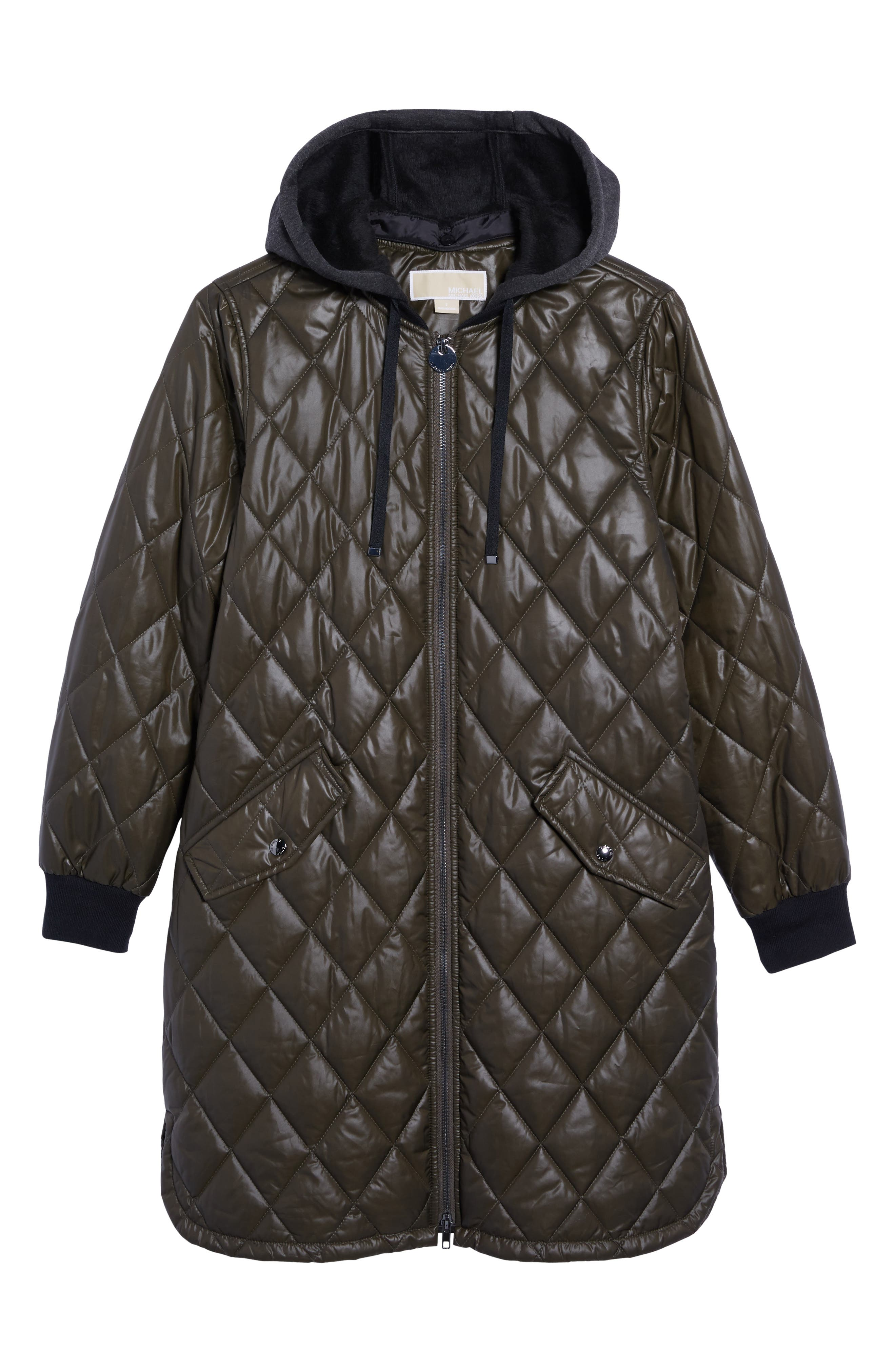 Quilted Jacket,                             Alternate thumbnail 6, color,                             Olive
