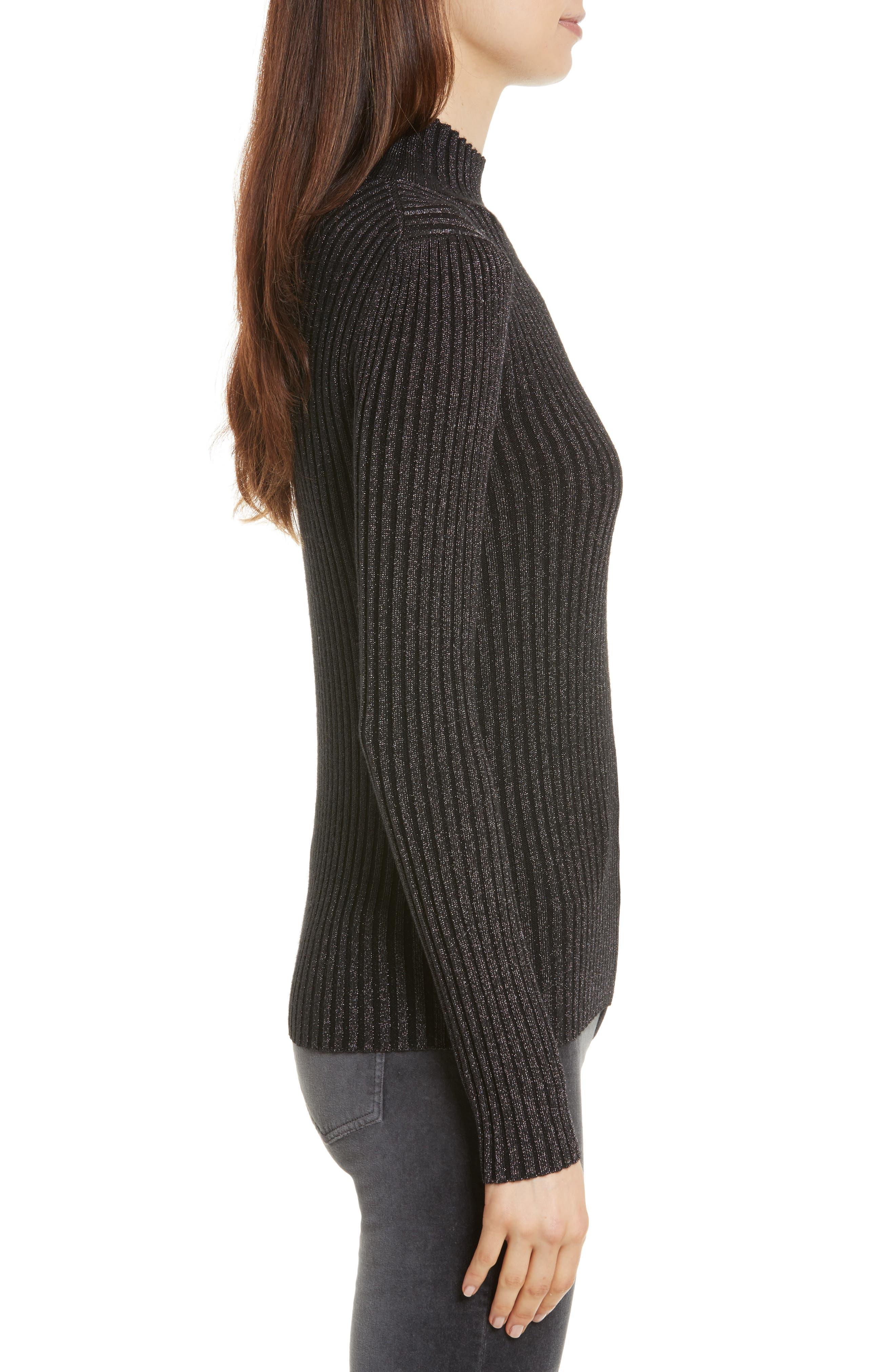 Alternate Image 4  - Rebecca Taylor Rib Turtleneck Pullover