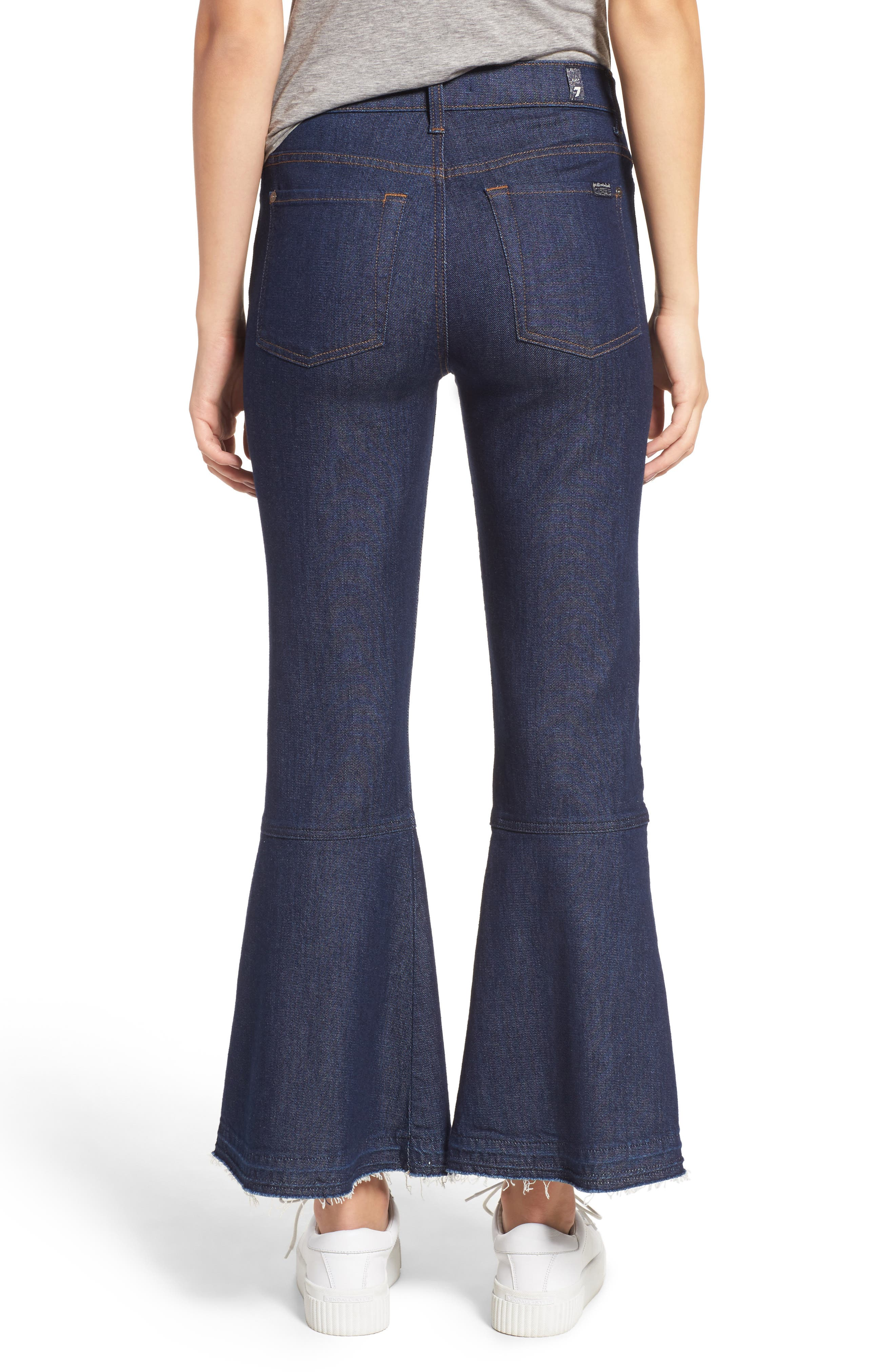 Alternate Image 2  - 7 For All Mankind® Priscilla High Waist Crop Flare Jeans (Wilshire Rinse)