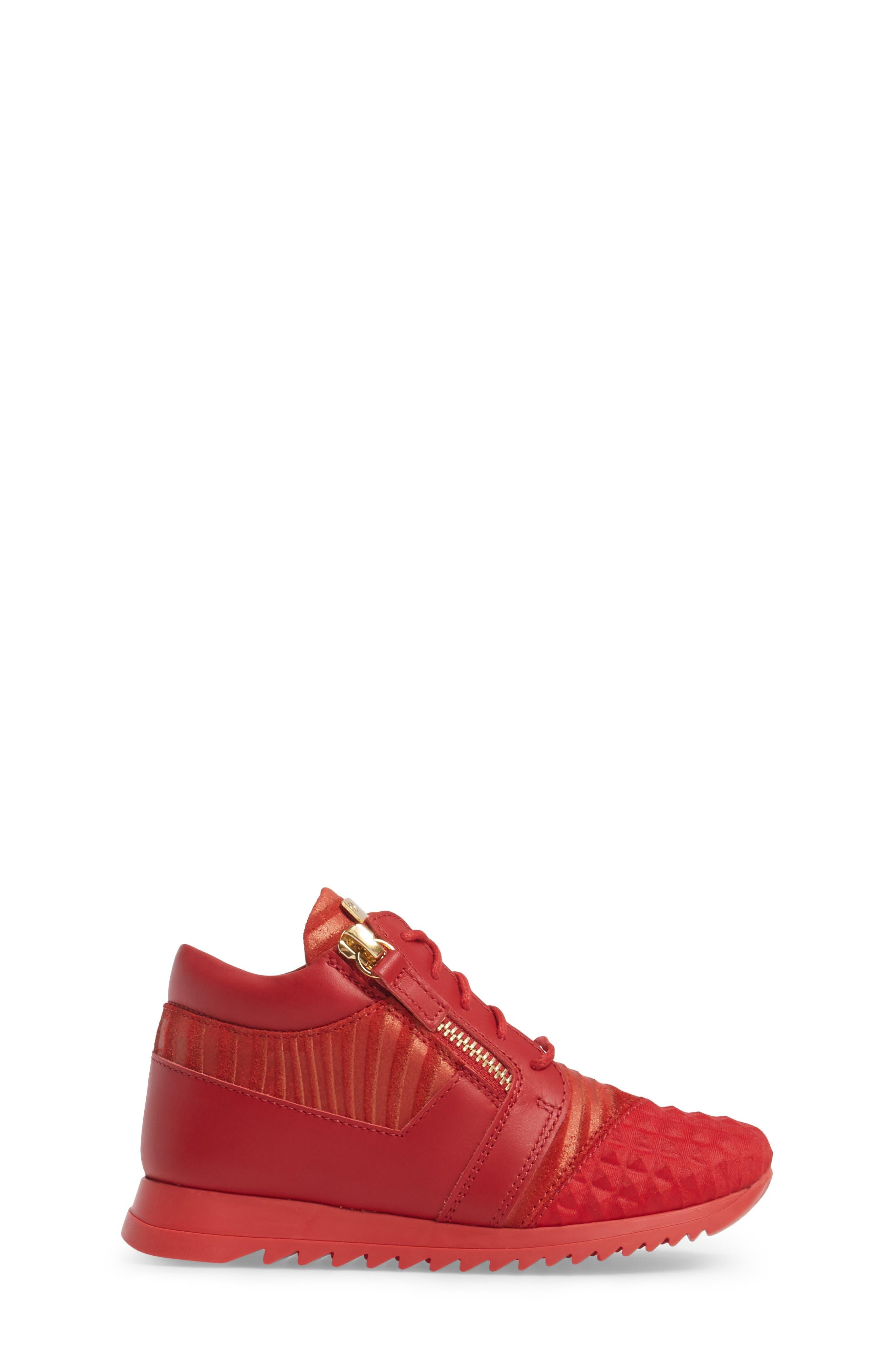 Alternate Image 3  - Giuseppe Zanotti Iperstud Embossed Sneaker (Baby, Walker, Toddler & Little Kid)