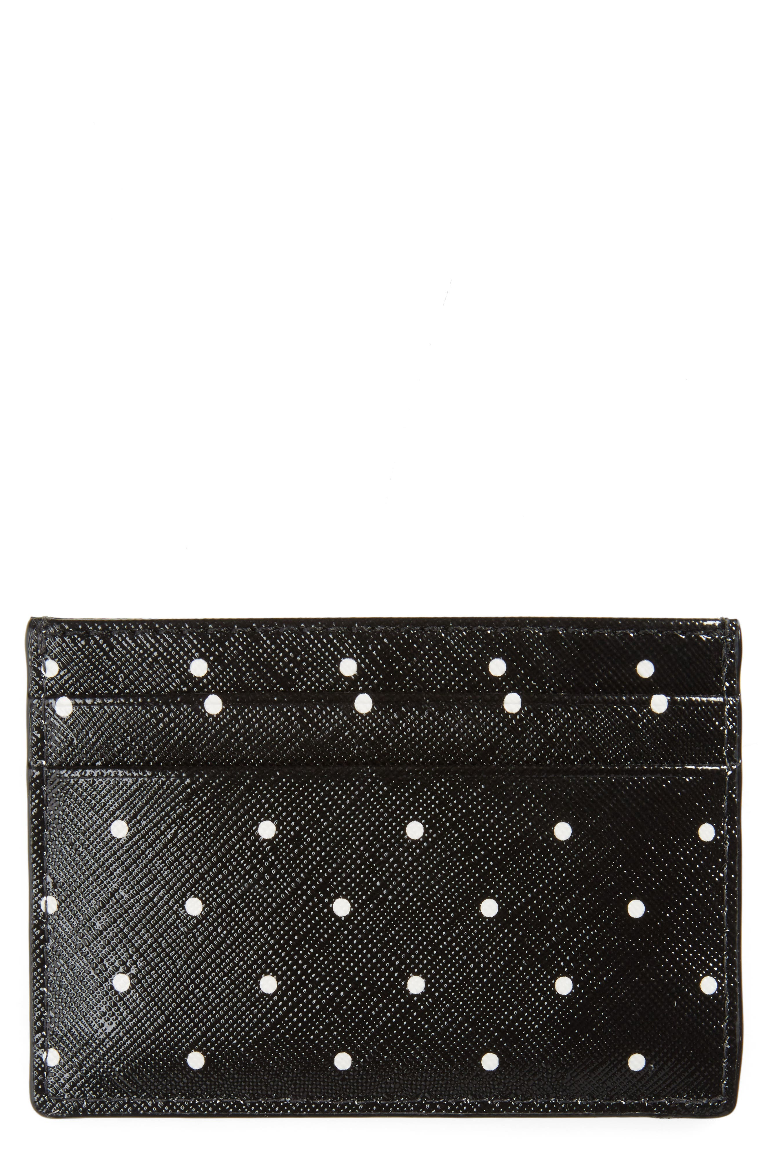 brooks drive card case,                             Main thumbnail 1, color,                             Black/ Cream