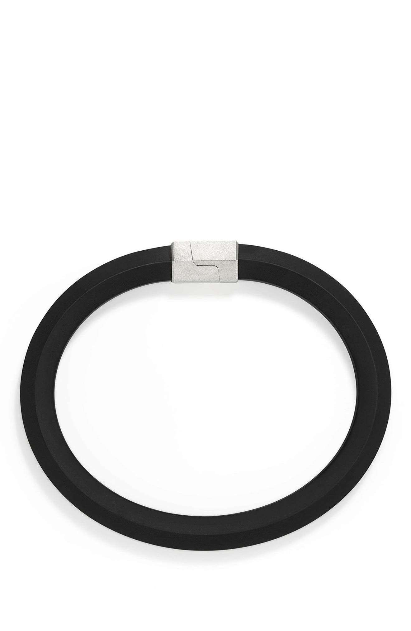 Alternate Image 2  - David Yurman Streamline Rubber ID Bracelet in Black