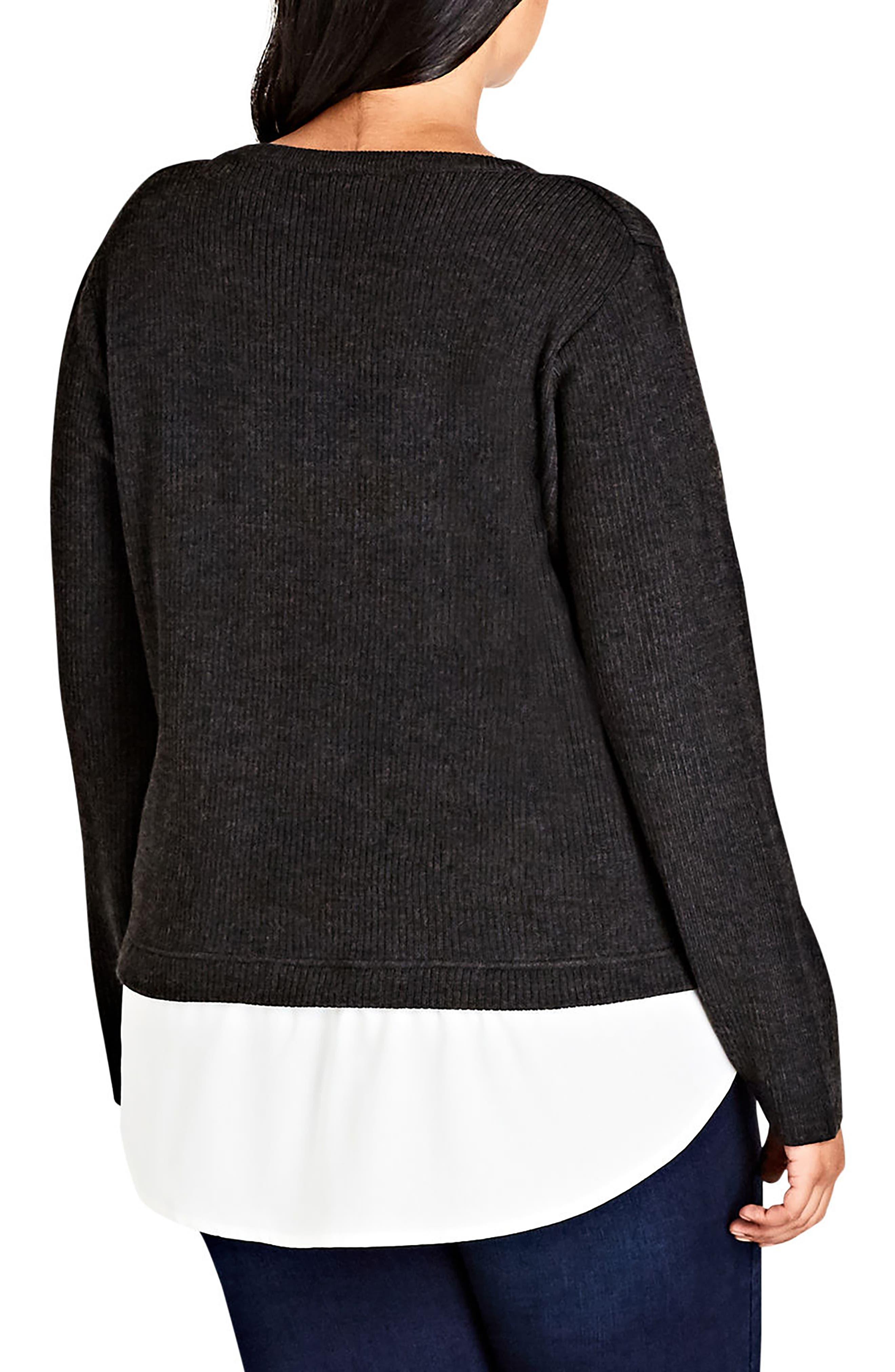 Alternate Image 2  - City Chic Promise Me Sweater (Plus Size)