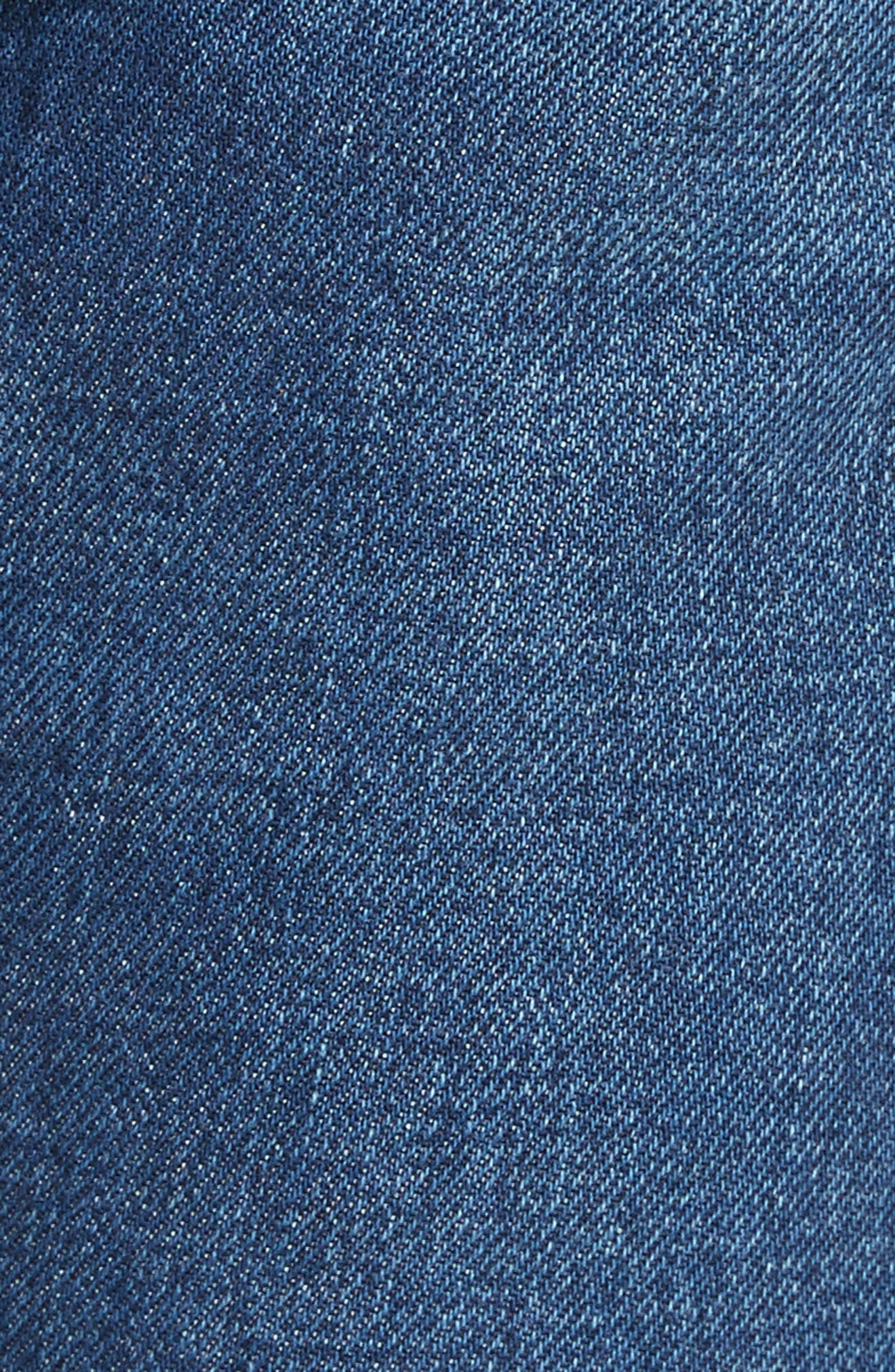 Embroidered Jeans,                             Alternate thumbnail 5, color,                             Deep Dark Blue