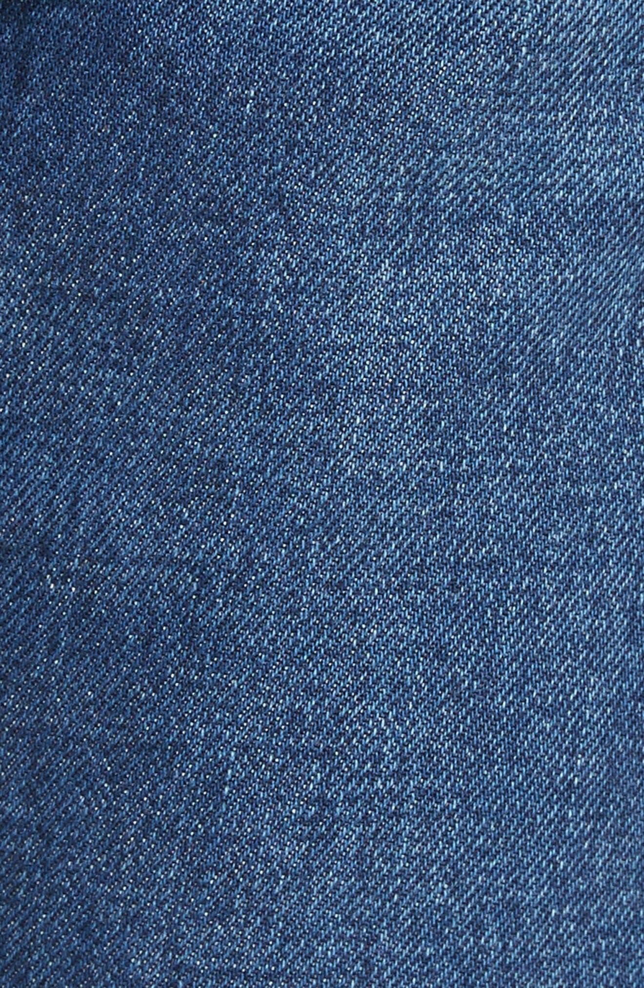 Alternate Image 5  - Saint Laurent Embroidered Jeans (Deep Dark Blue)