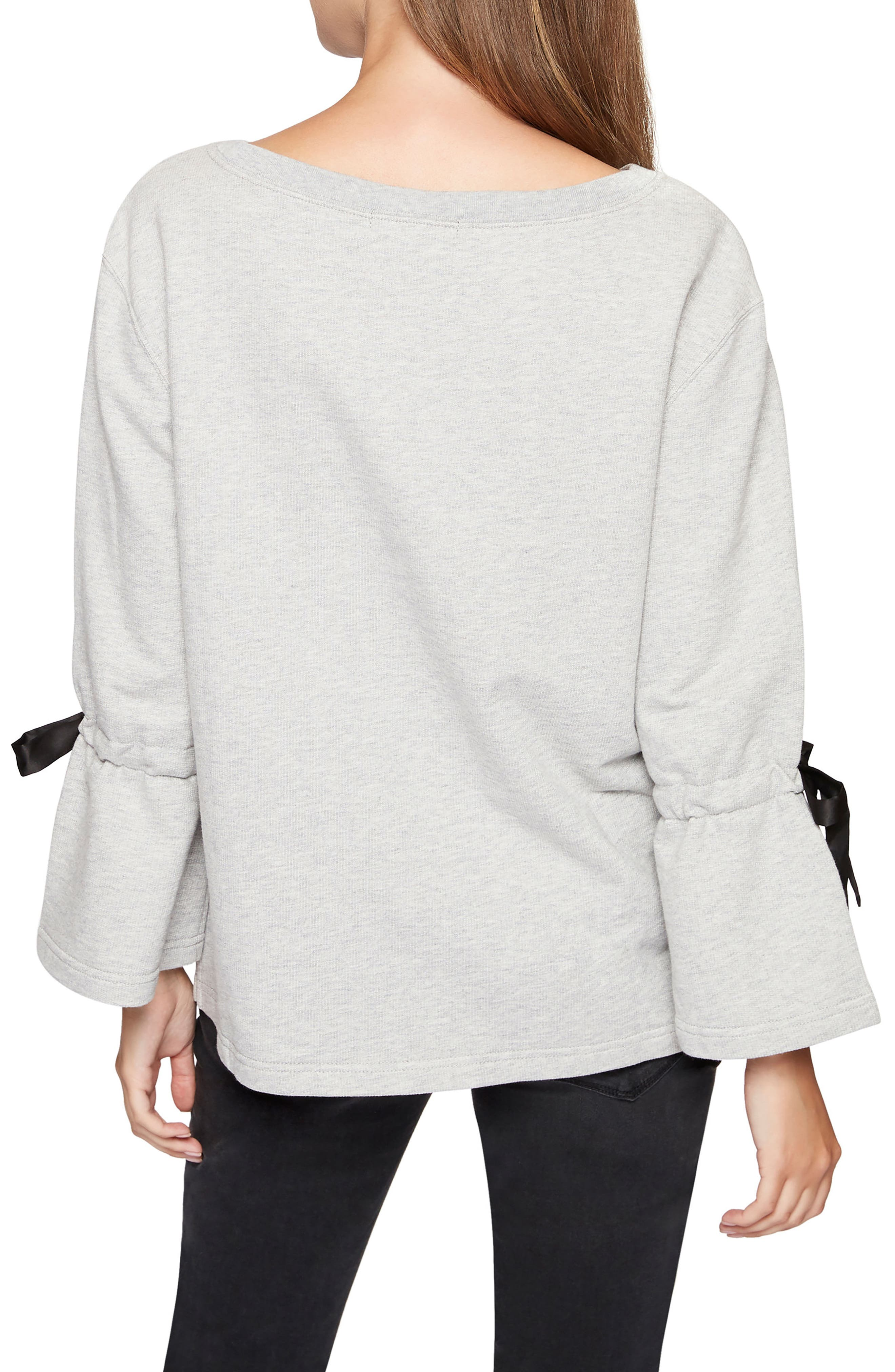 Alternate Image 4  - Sanctuary Tierney Tie Sleeve Sweatshirt